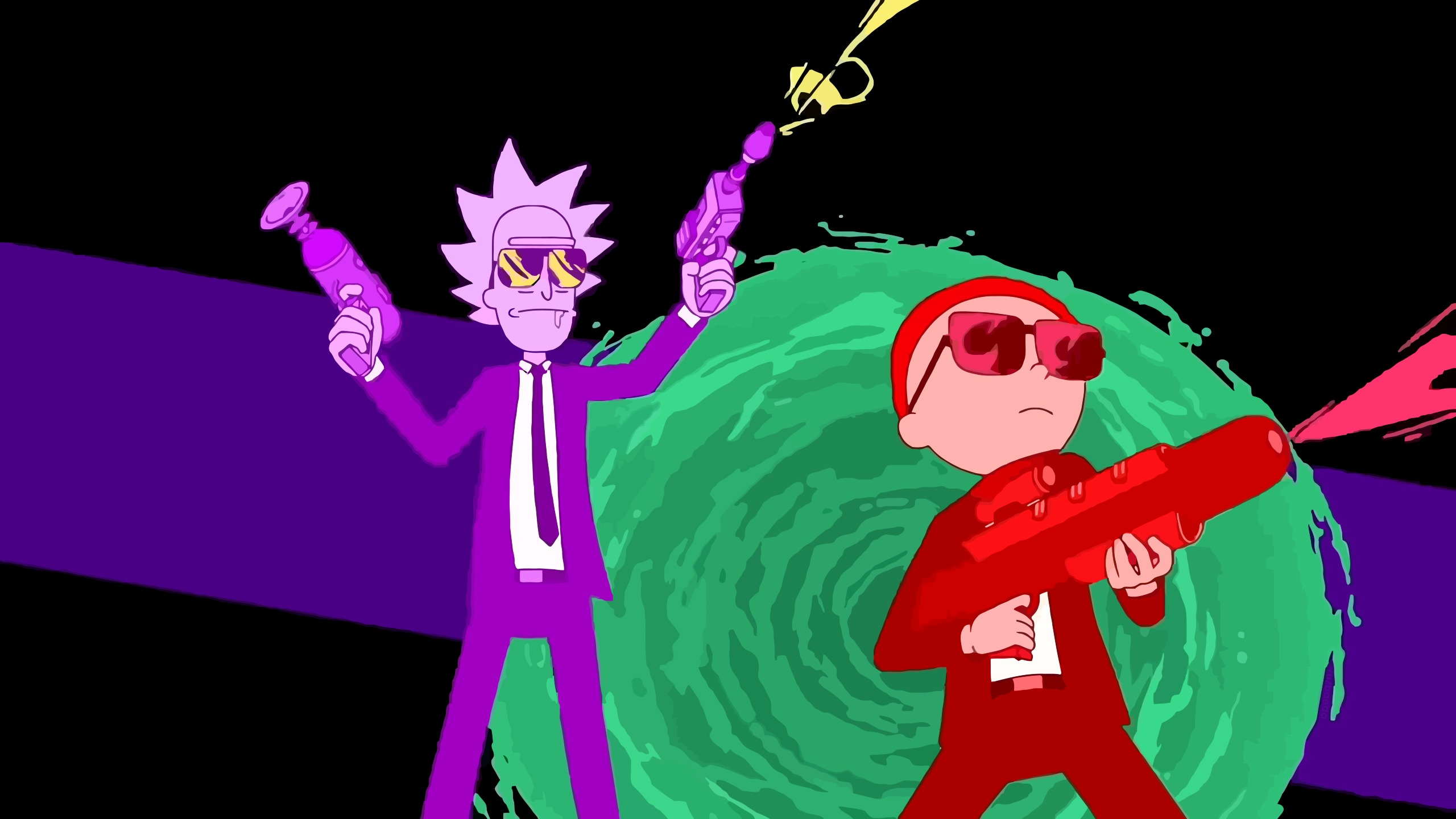 2560x1440 Rick And Morty Run The Jewels Art 1440p Resolution