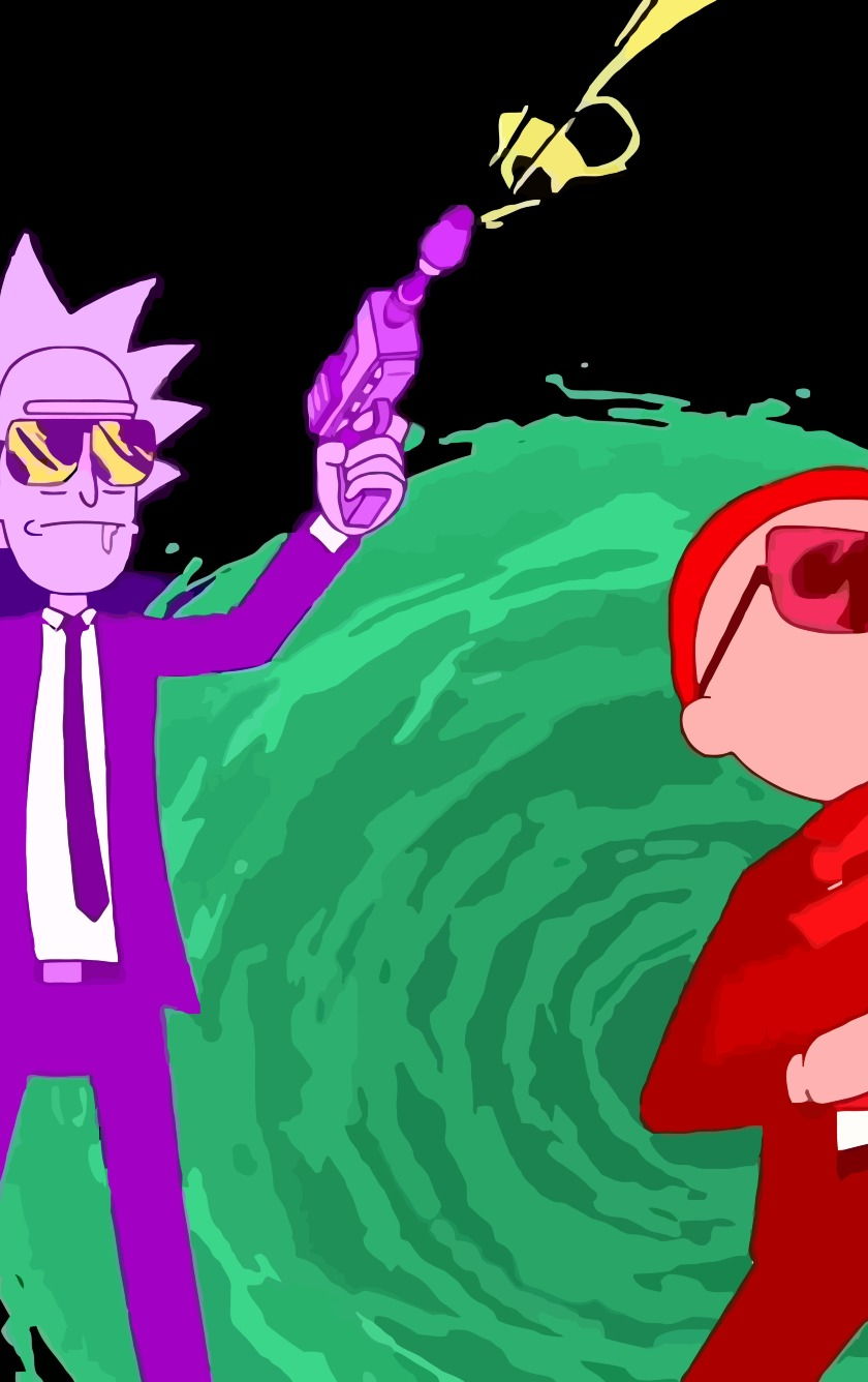 Rick And Morty Run The Jewels Art HD 8K Wallpaper