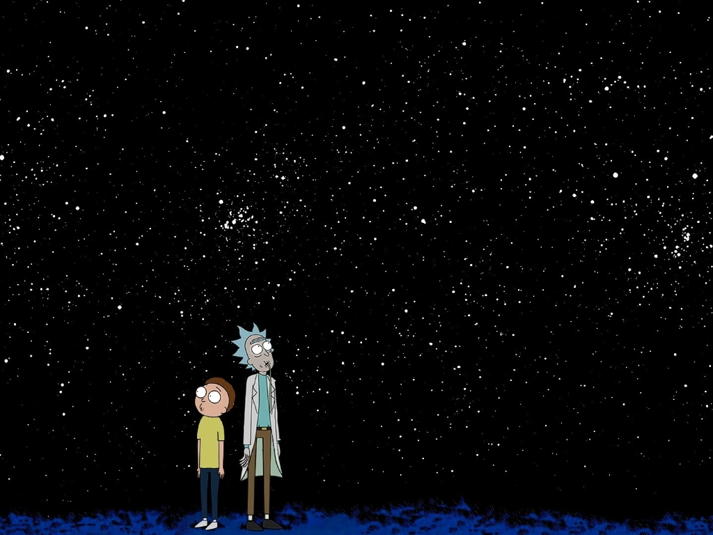 Download Galaxy Note 5 Galaxy S6 Edge Full Hd Stock: Rick And Morty Space, Full HD Wallpaper