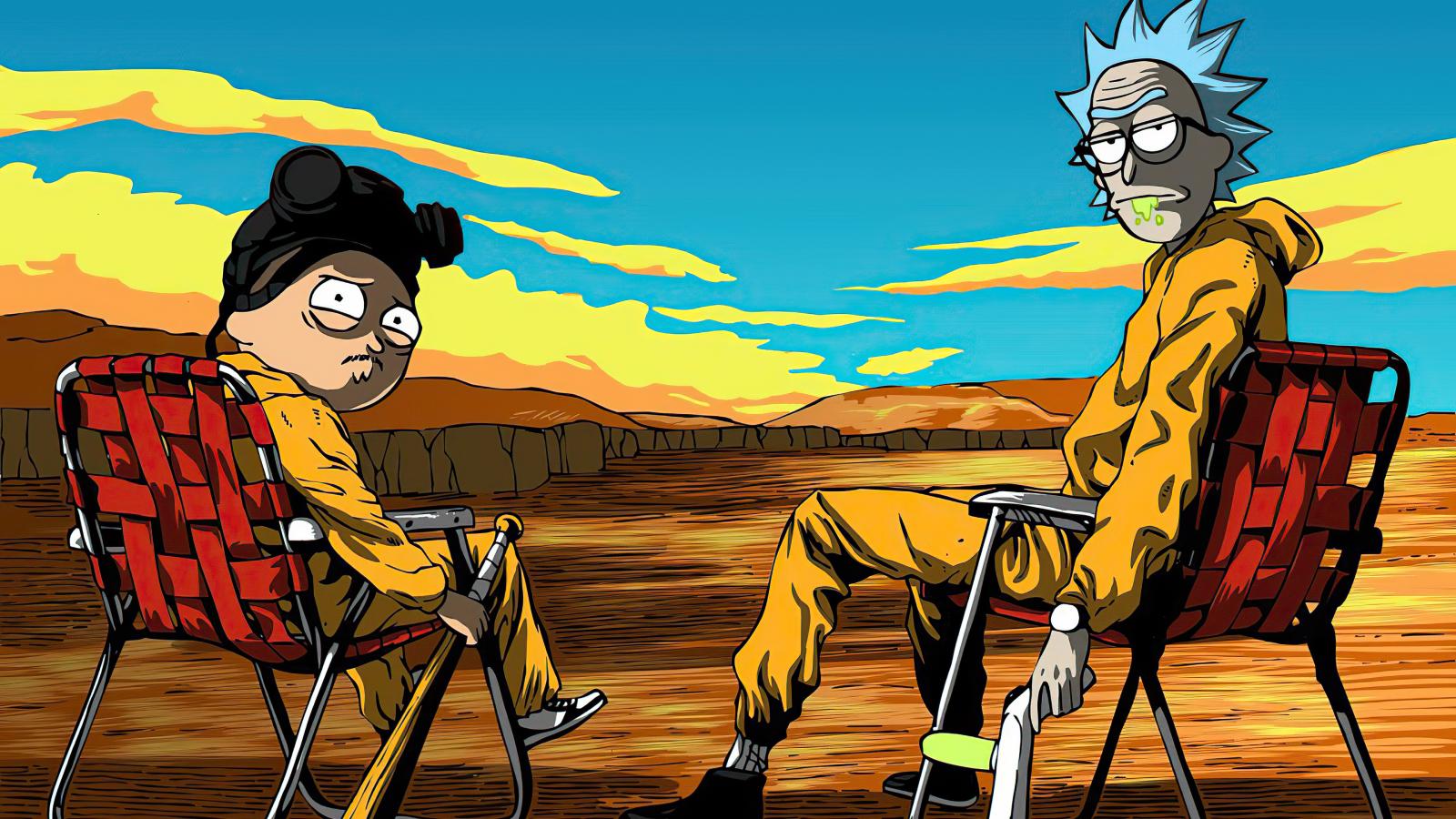 1600x900 Rick & Morty X Breaking Bad 1600x900 Resolution ...