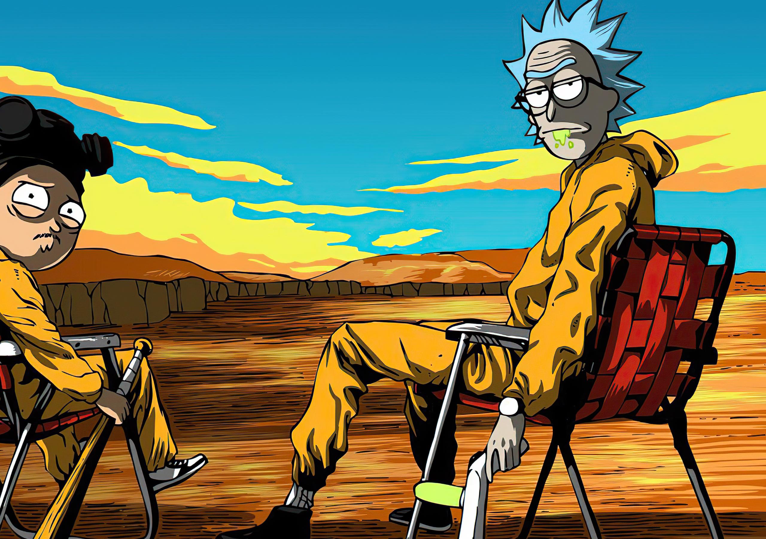 2560x1800 Rick & Morty X Breaking Bad 2560x1800 Resolution ...