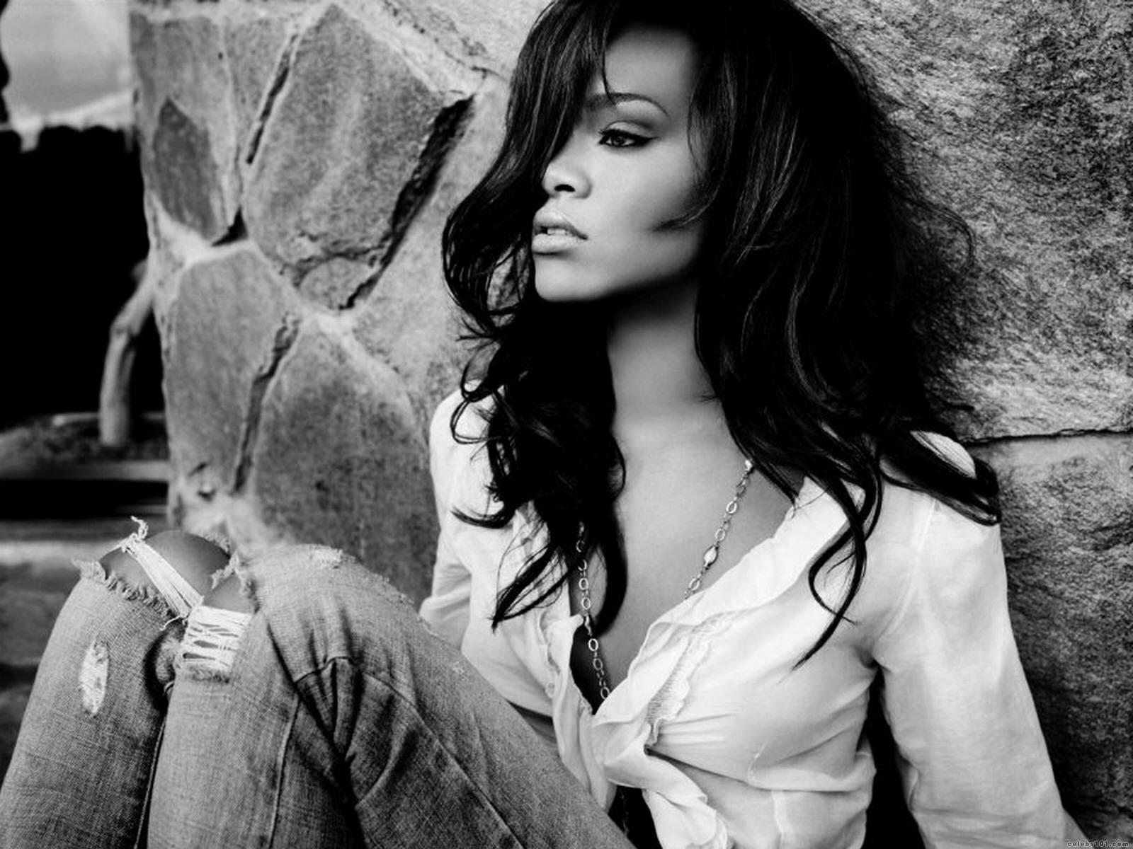 Rihanna black and white photoshoot full hd wallpaper download original voltagebd Gallery