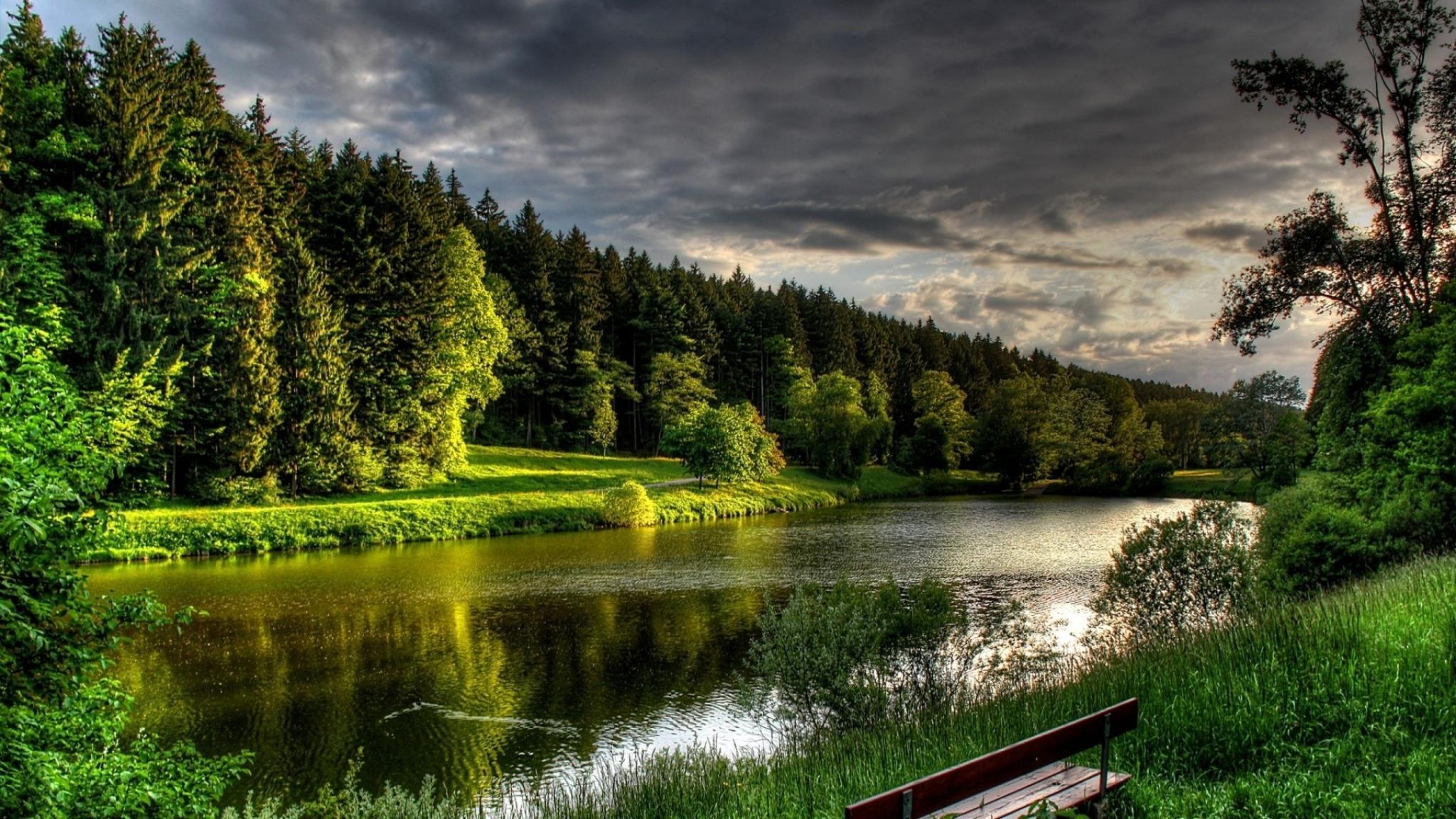 природа река трава деревья без смс