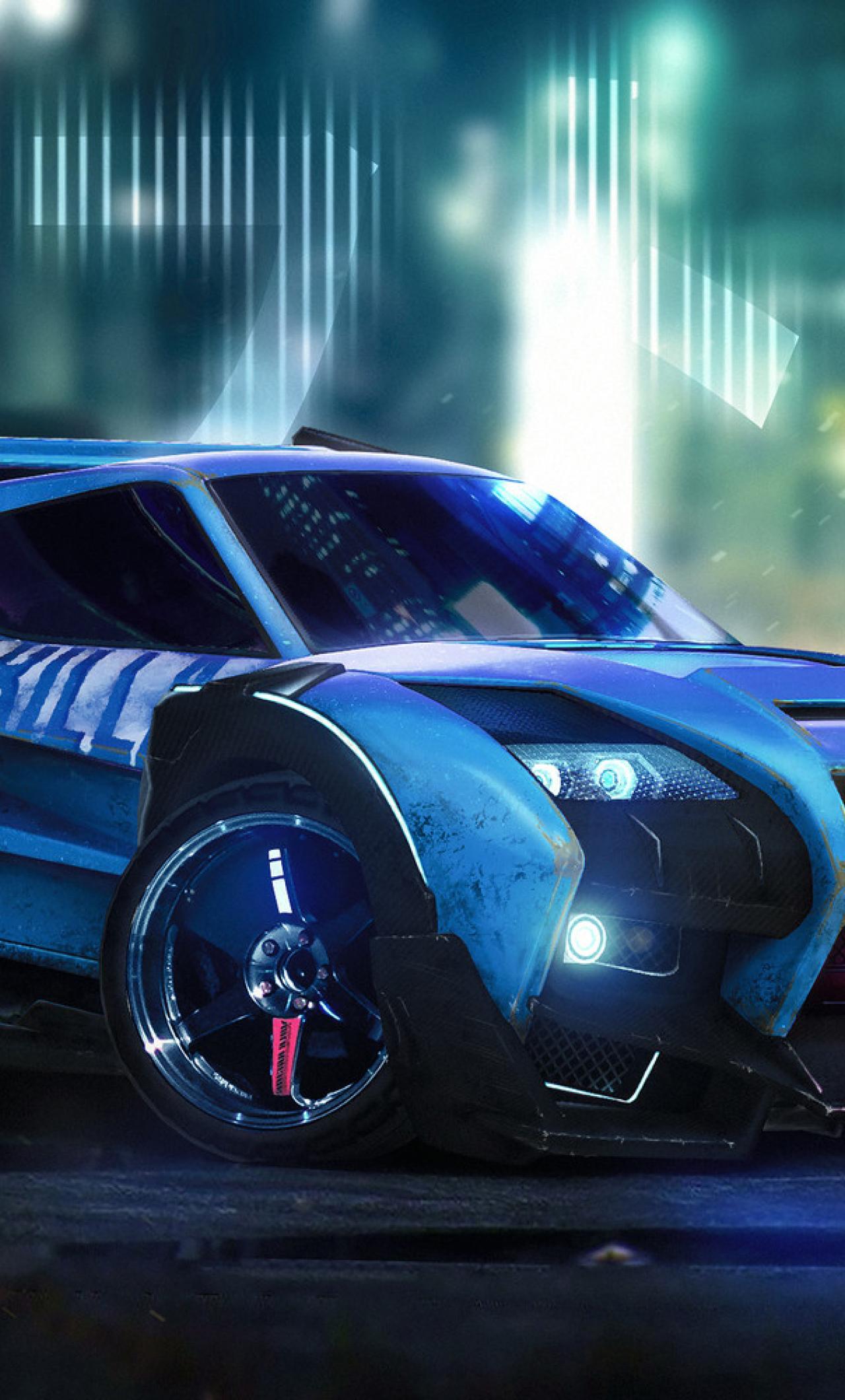 Rocket League Car Artwork Full Hd Wallpaper