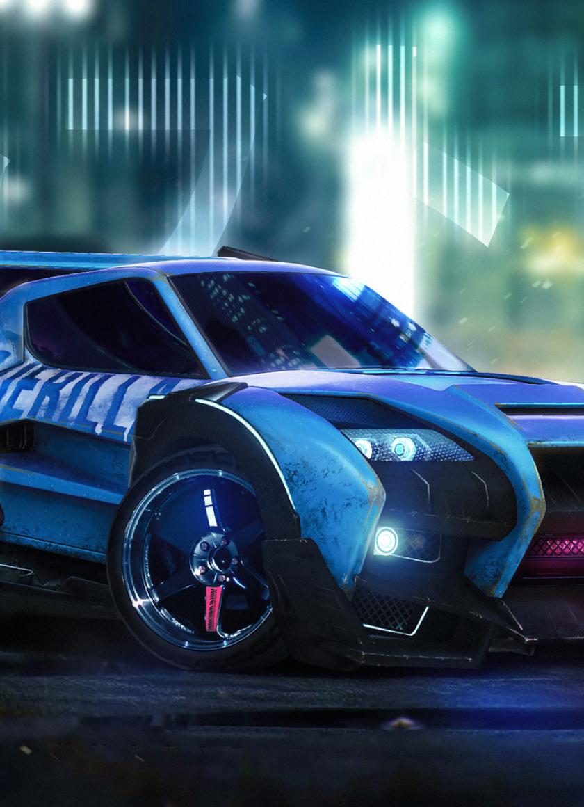 840x1160 Rocket League Car Artwork 840x1160 Resolution Wallpaper Hd