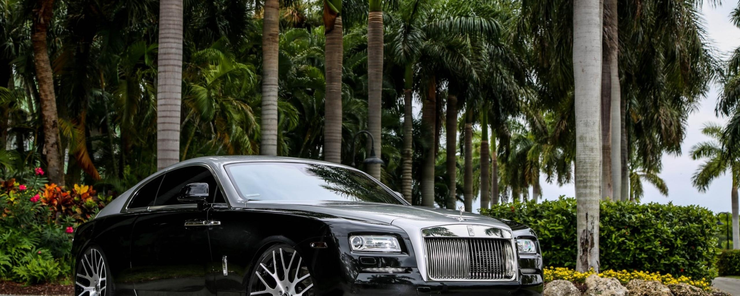 2560x1024 rolls-royce, wraith, black 2560x1024 Resolution ...