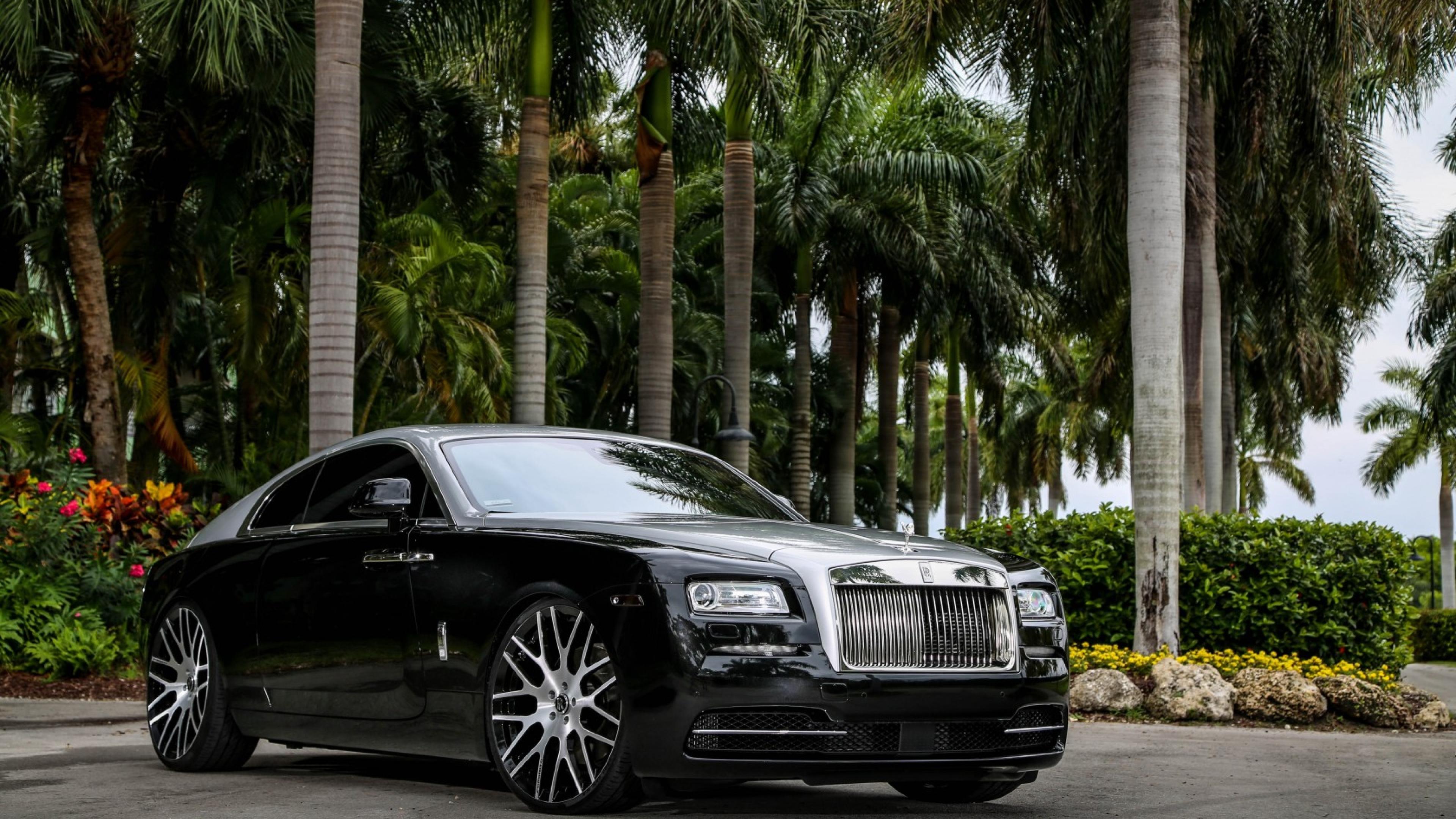 3840x2160 Rolls Royce Wraith Black 4k Wallpaper Hd Cars