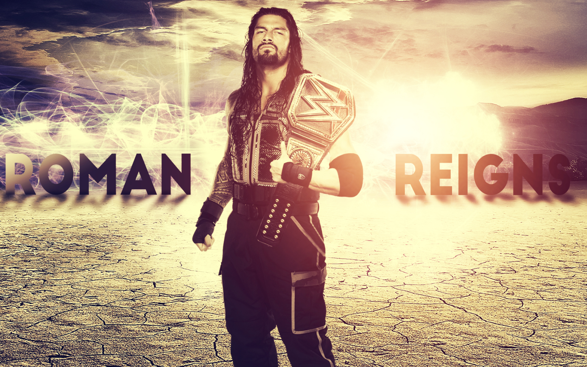 Roman Reigns Wwe Champion Full Hd Wallpaper