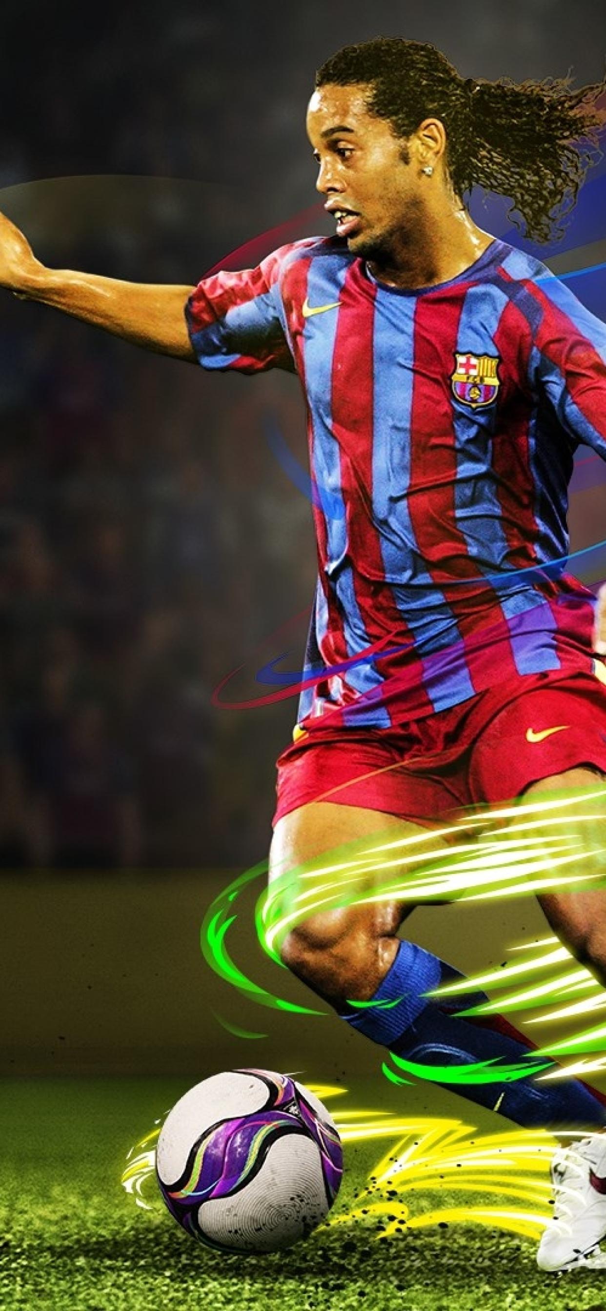 1242x2688 Ronaldinho In Efootball Pro Evolution Soccer 2020