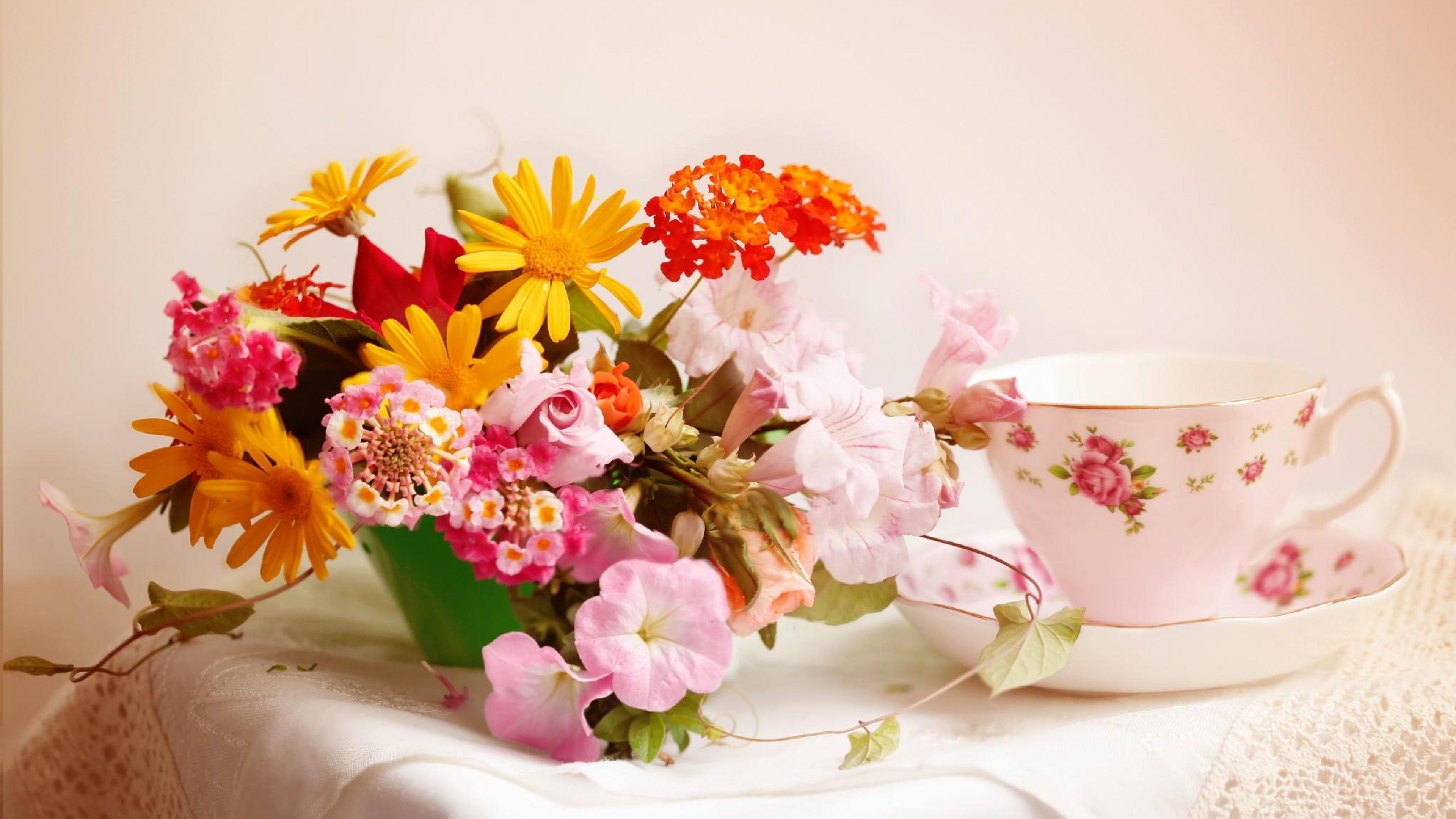 цветы букет кружка flowers bouquet mug на телефон