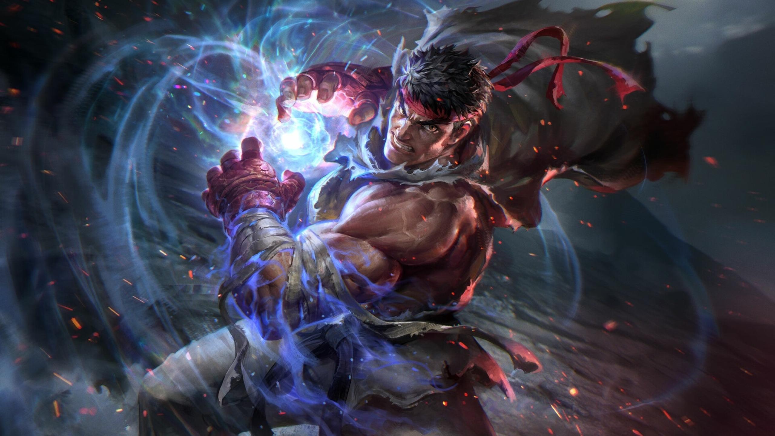 2560x1440 Ryu Street Fighter 1440P Resolution Wallpaper ...