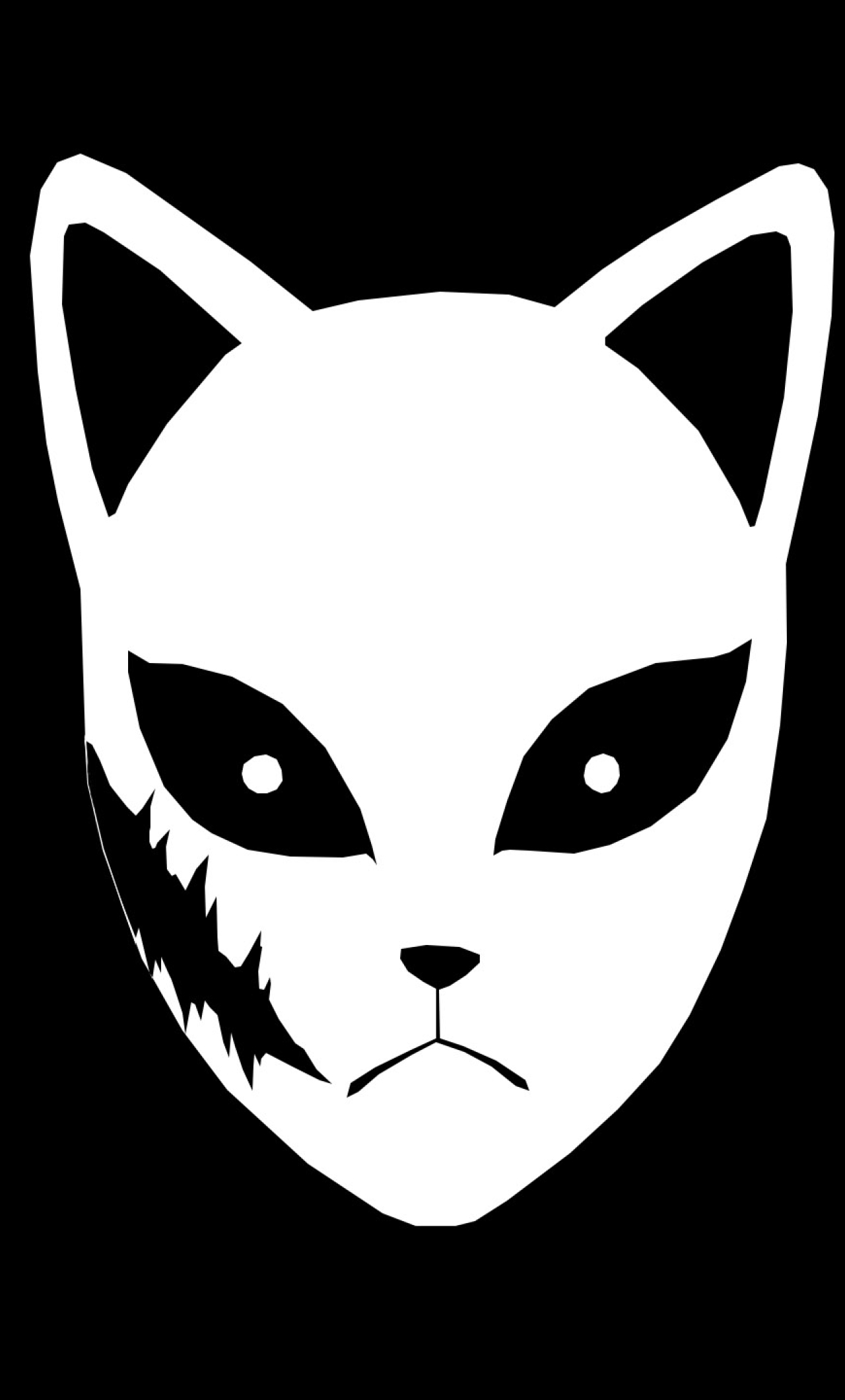 Sabito Mask Wallpaper in 1280x2120 Resolution