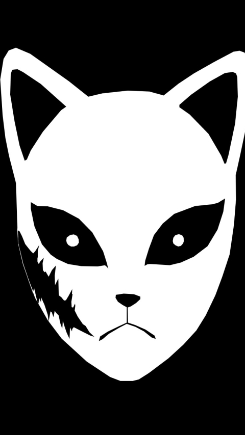 Sabito Mask Wallpaper in 480x854 Resolution