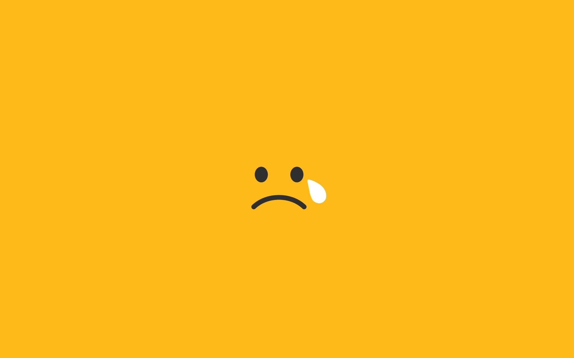 Sad Tears Smiley Minimalism Hd 4k Wallpaper