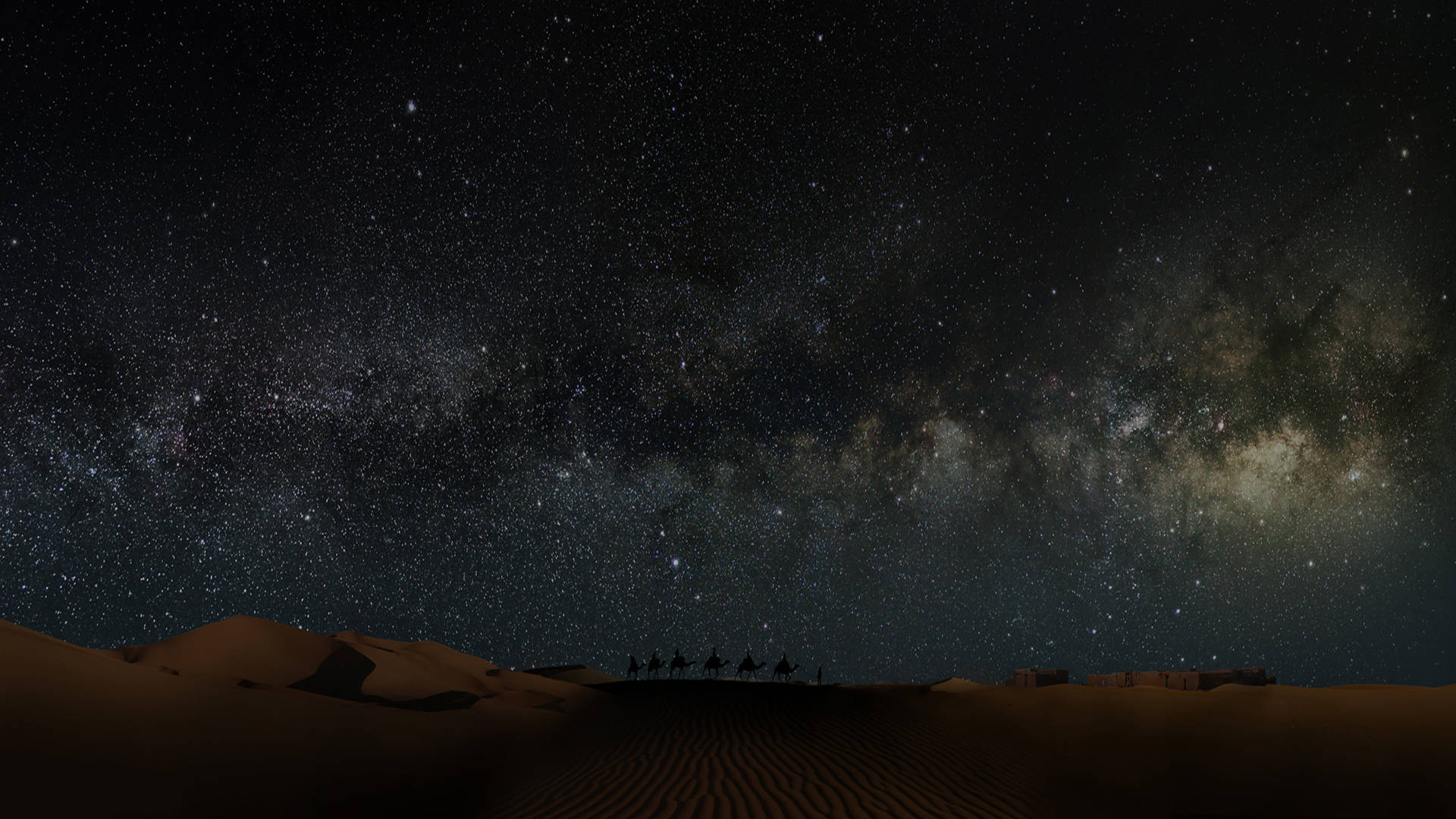 Sahara Desert In Scenery Night Wallpaper Hd Nature 4k