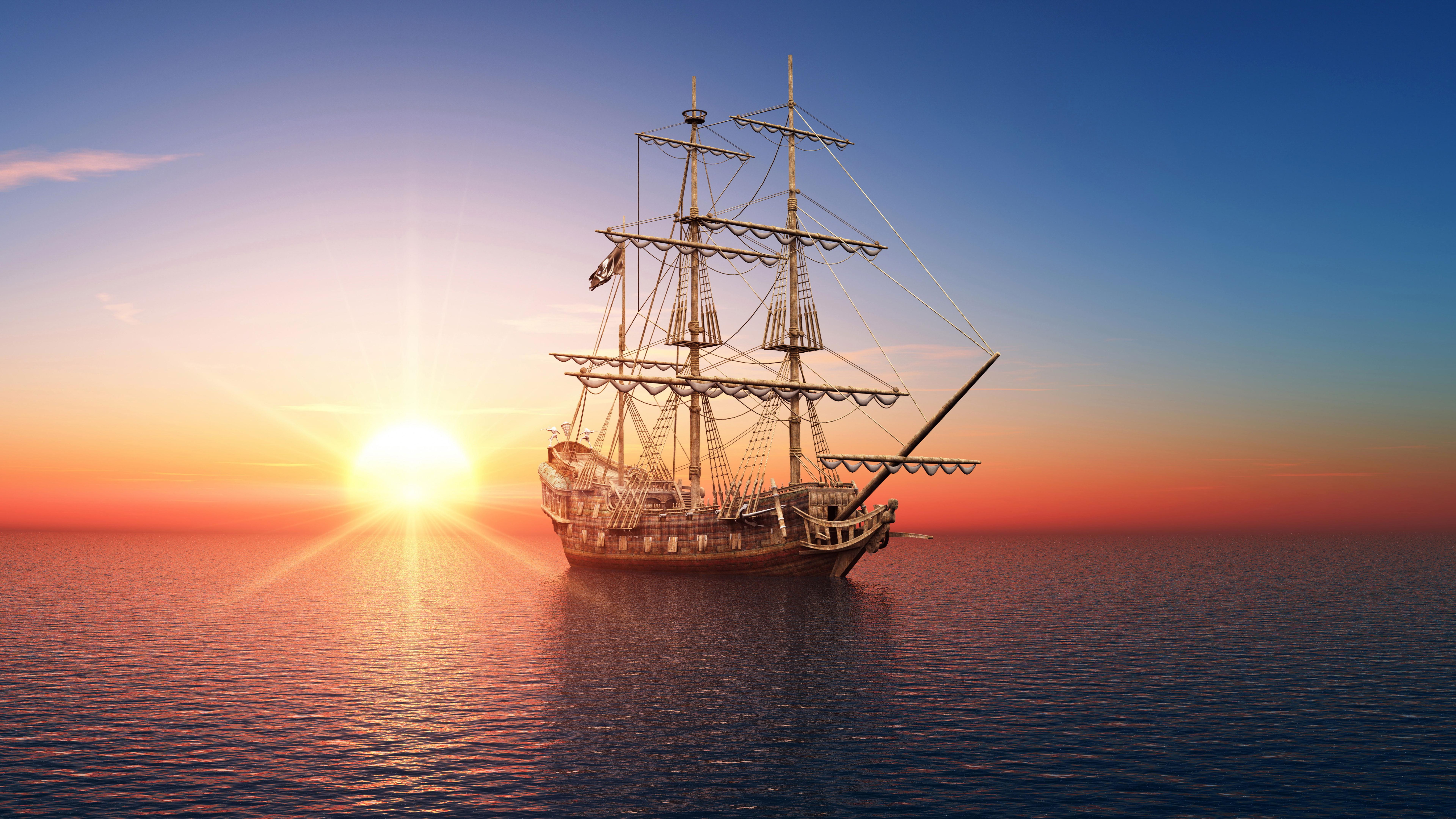 сказочный корабль с парусами скачать