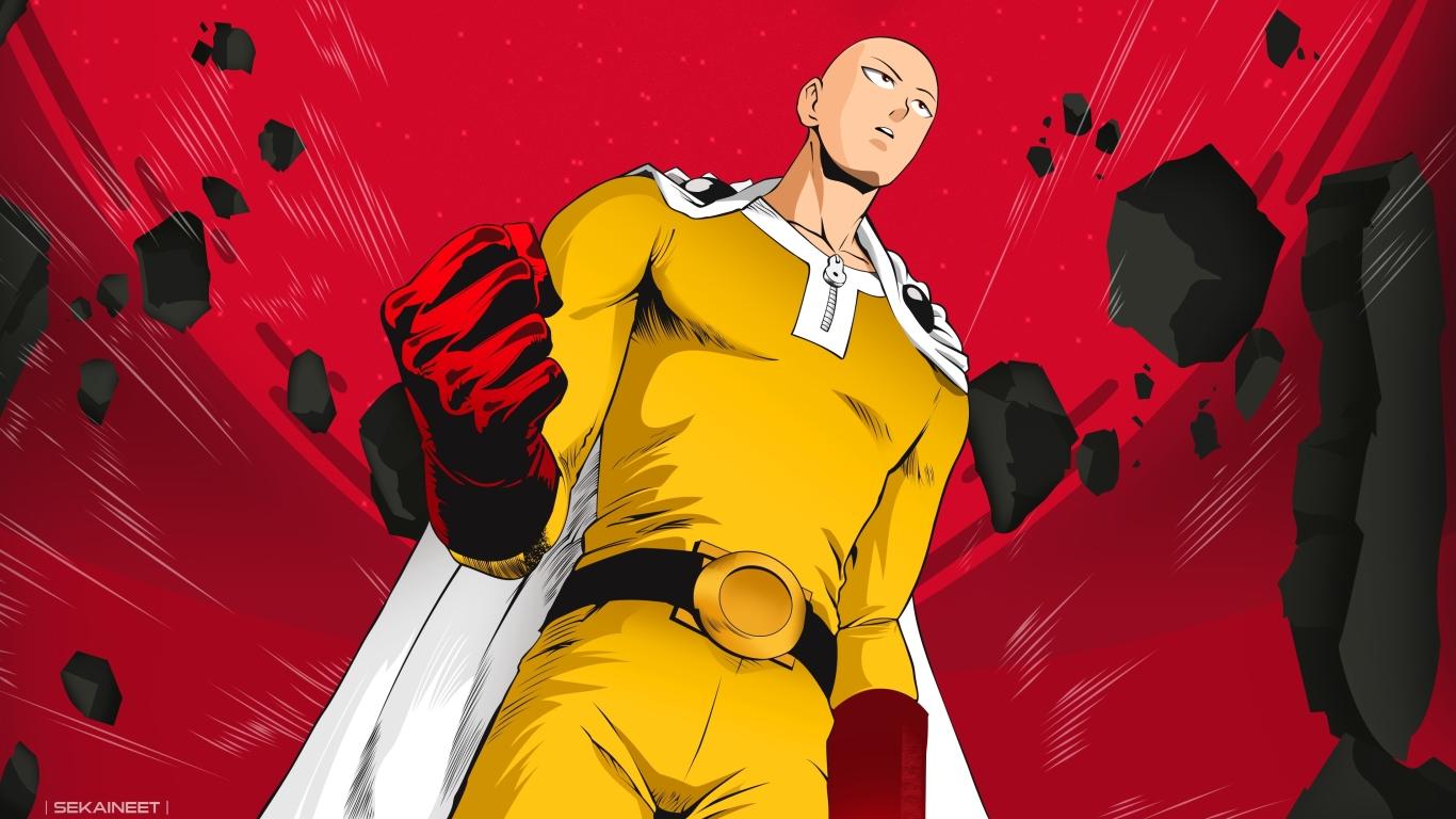 1366x768 Saitama In One Punch Man 1366x768 Resolution