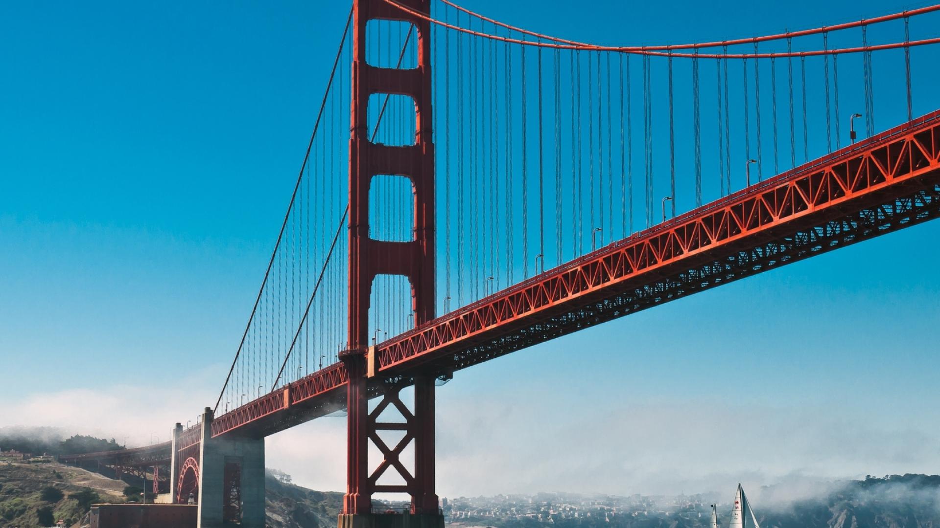 1920x1080 San Francisco Golden Gate Sailboat 1080p Laptop Full