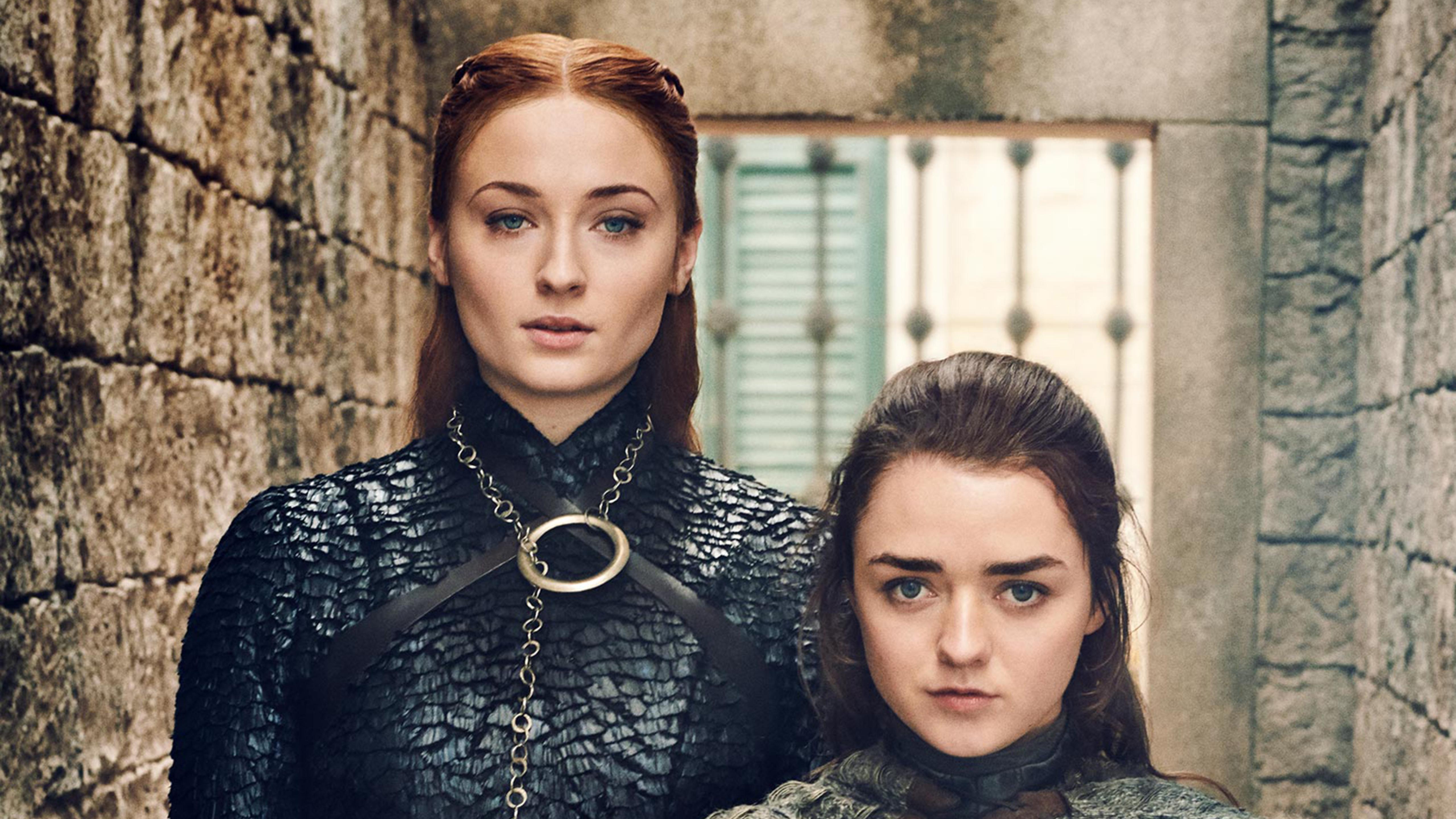 5120x2880 Sansa Stark And Arya Stark Game Of Thrones 8 5k