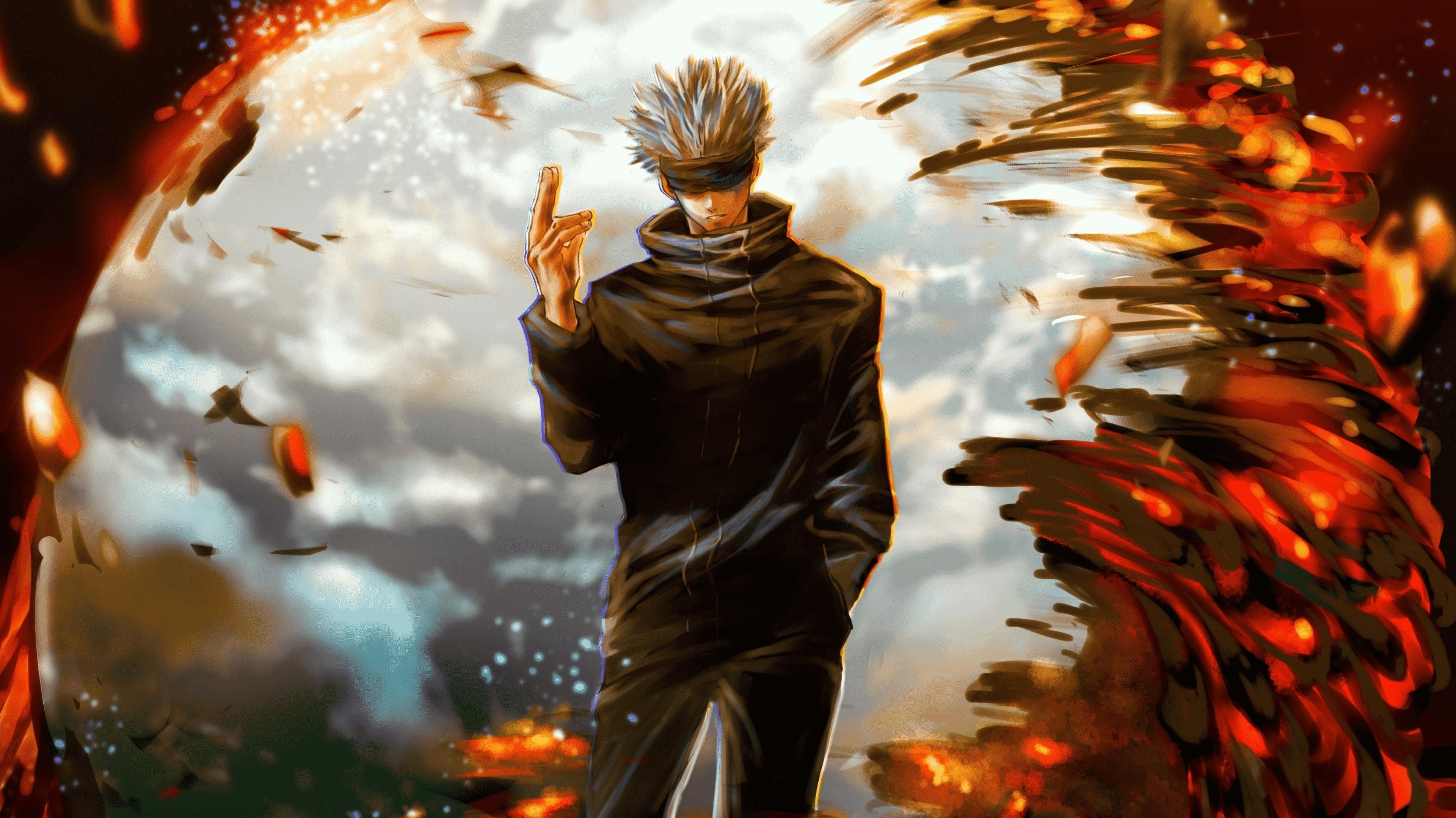 3840x2160 Satoru Gojo Jujutsu Kaisen Art 4K Wallpaper, HD ...