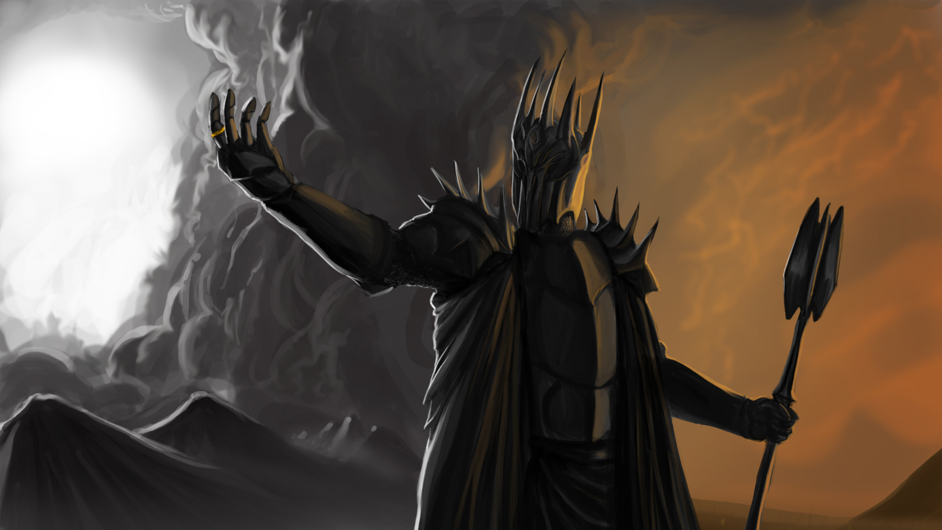 1920x1080 Sauron Lord Of The Rings 1080p Laptop Full Hd Wallpaper