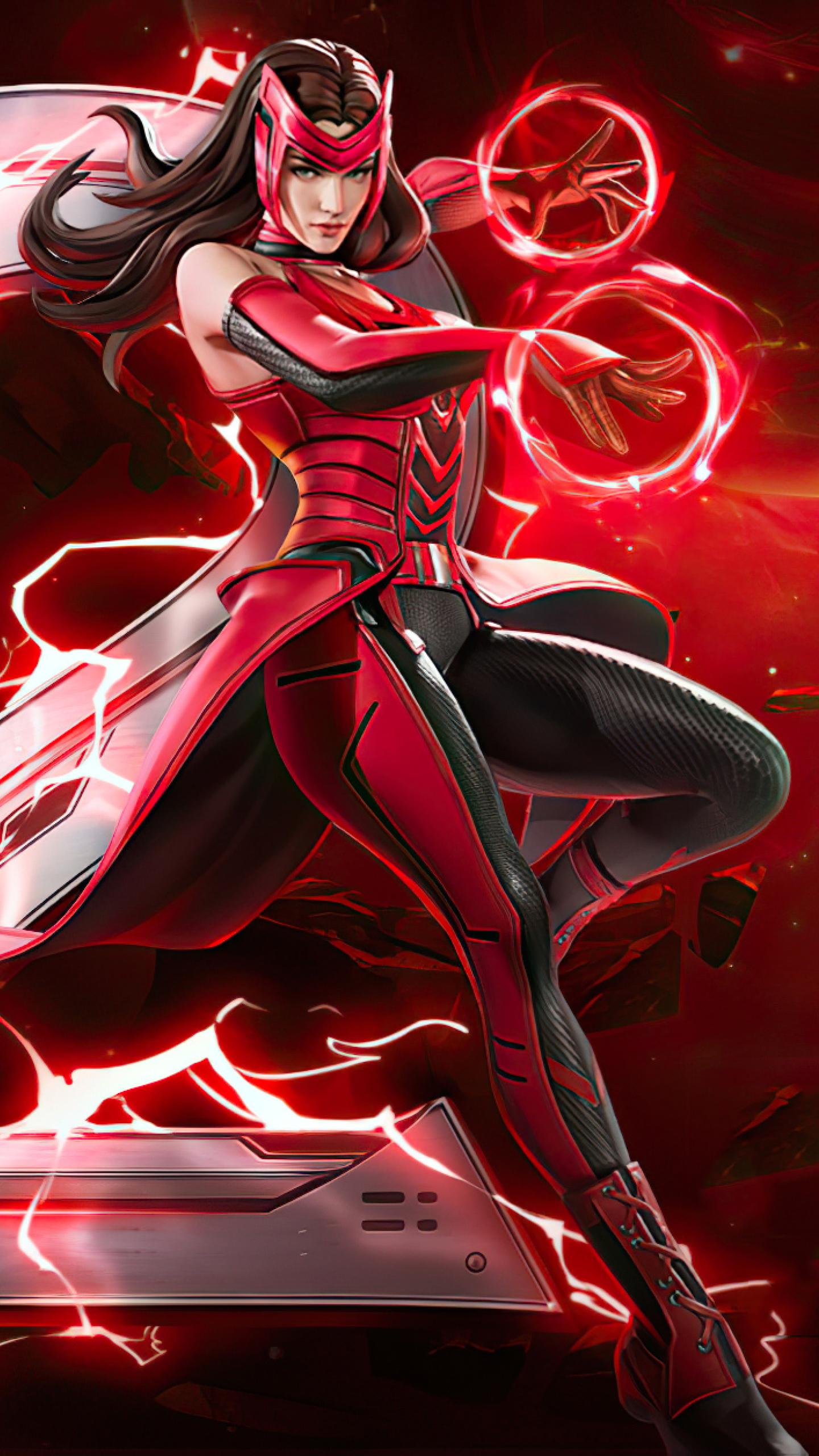 1440x2560 Scarlet Witch Marvel Super War Samsung Galaxy S6