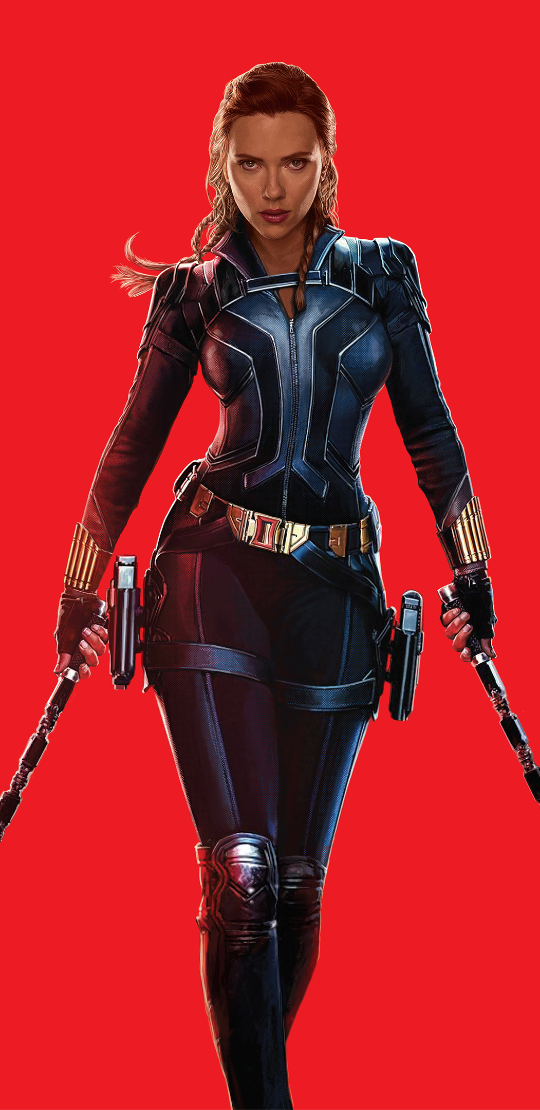 1080x2220 Scarlett Johansson as Natasha Romanoff 4K Black ...