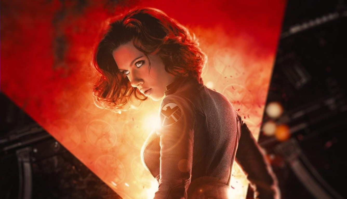 1336x768 Scarlett Johansson Black Widow Movie Poster Hd Laptop Wallpaper Hd Movies 4k Wallpapers Images Photos And Background