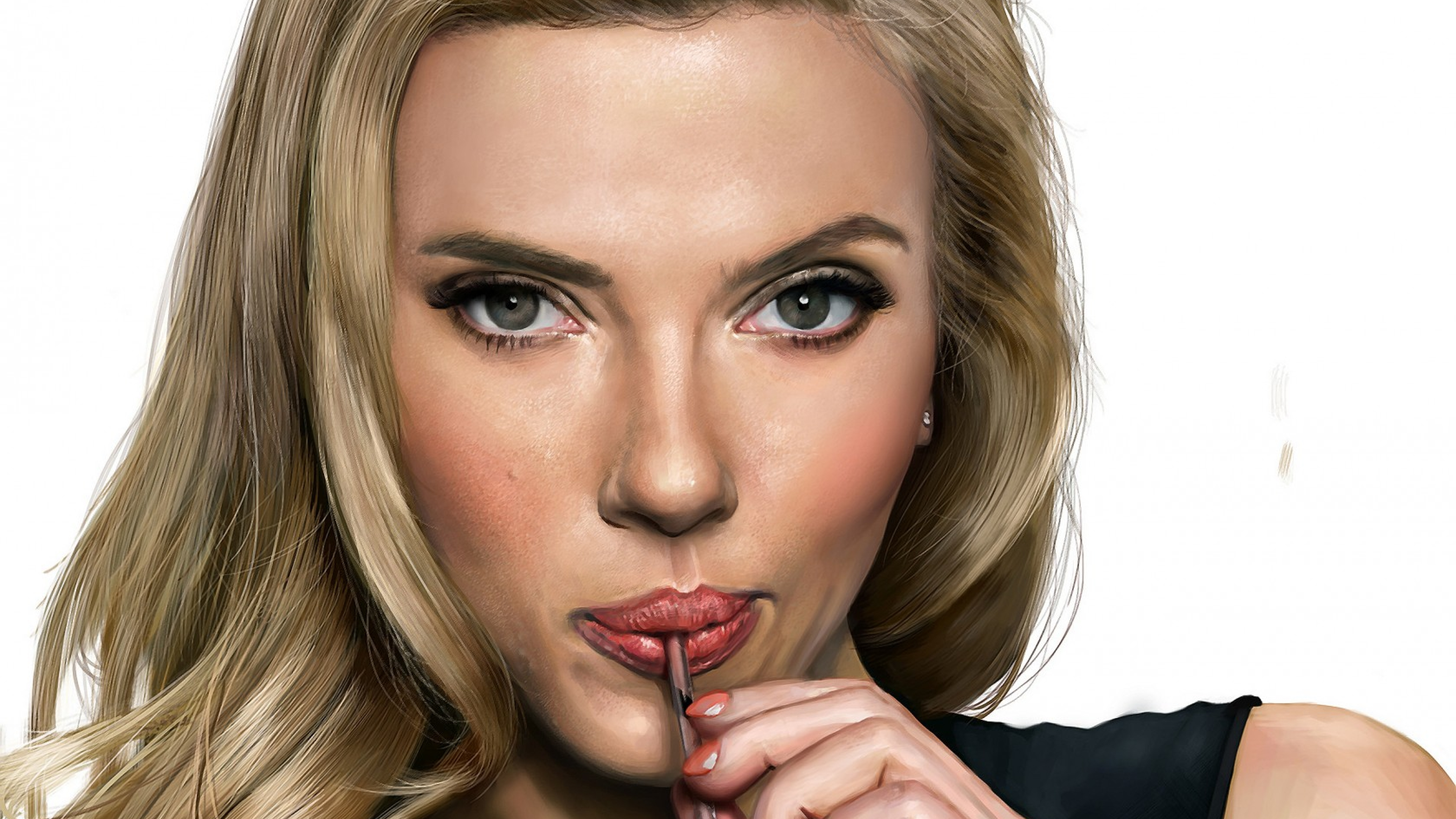 5120x2880 Scarlett Johansson Face Art 5k Wallpaper Hd Movies 4k Wallpapers Images Photos And Background