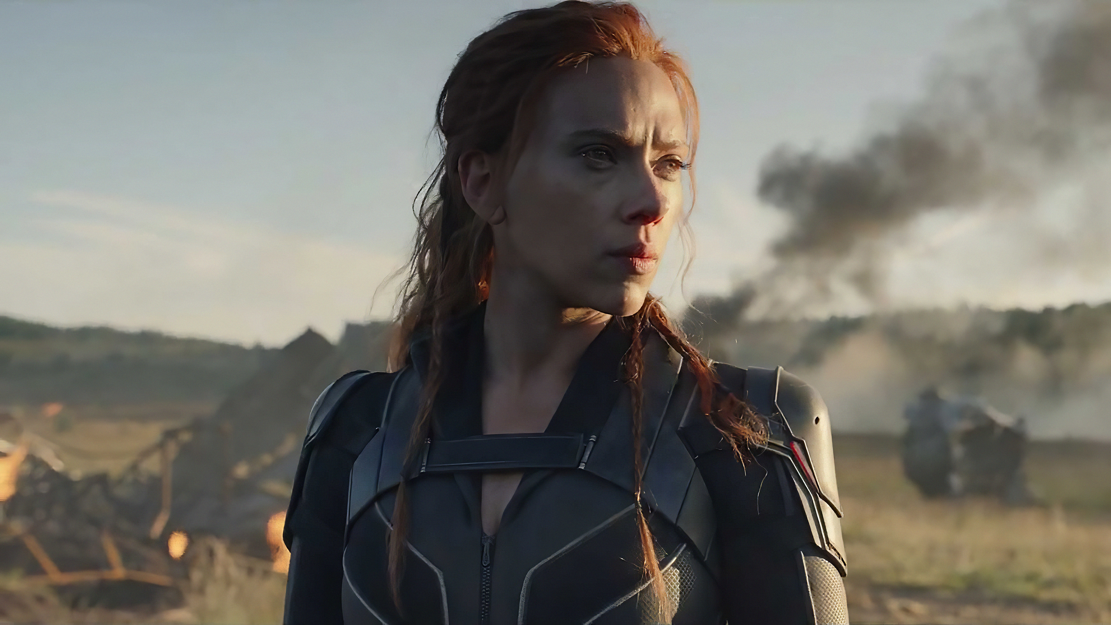 Scarlett Johansson In Black Widow Movie Wallpaper Hd Movies