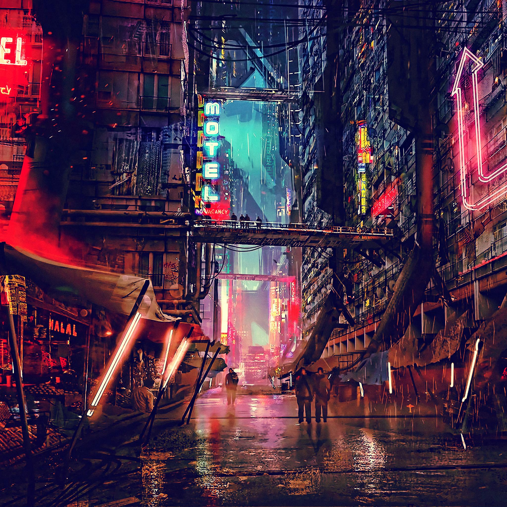 2048x2048 Sci FI Cyberpunk CIty Ipad Air Wallpaper, HD ...