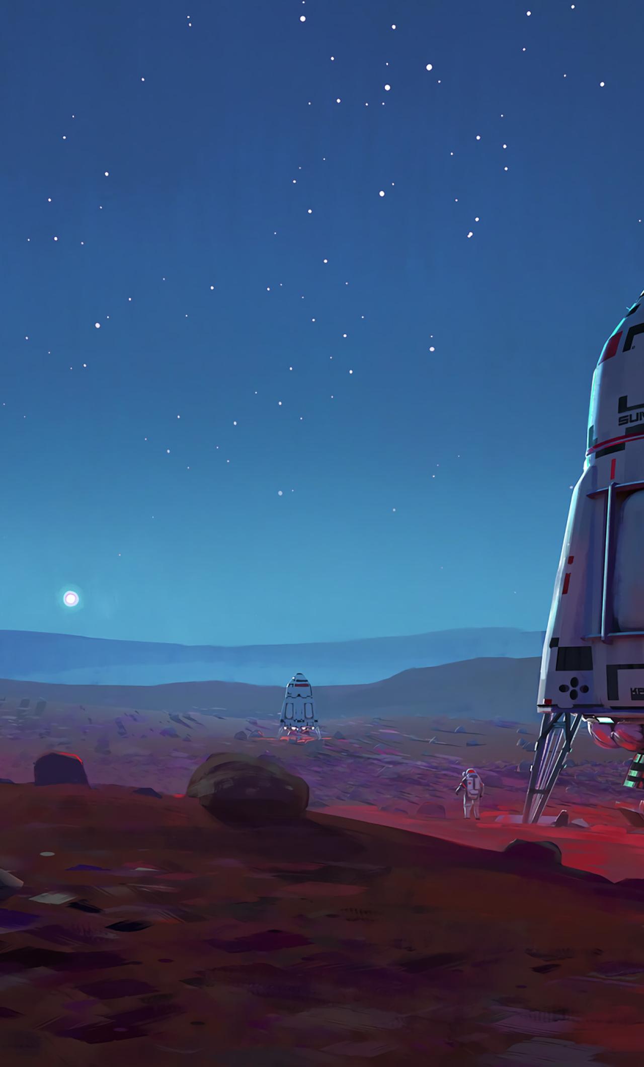 1280x2120 Scifi Astronaut Space Mars iPhone 6 plus ...