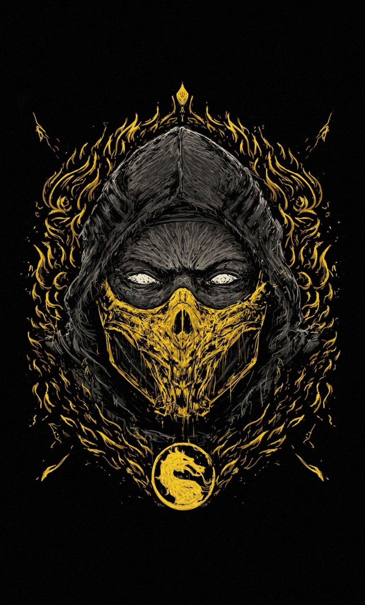 Scorpion Iphone 6 Scorpion Mortal Kombat 11 Wallpaper Wallpapershit
