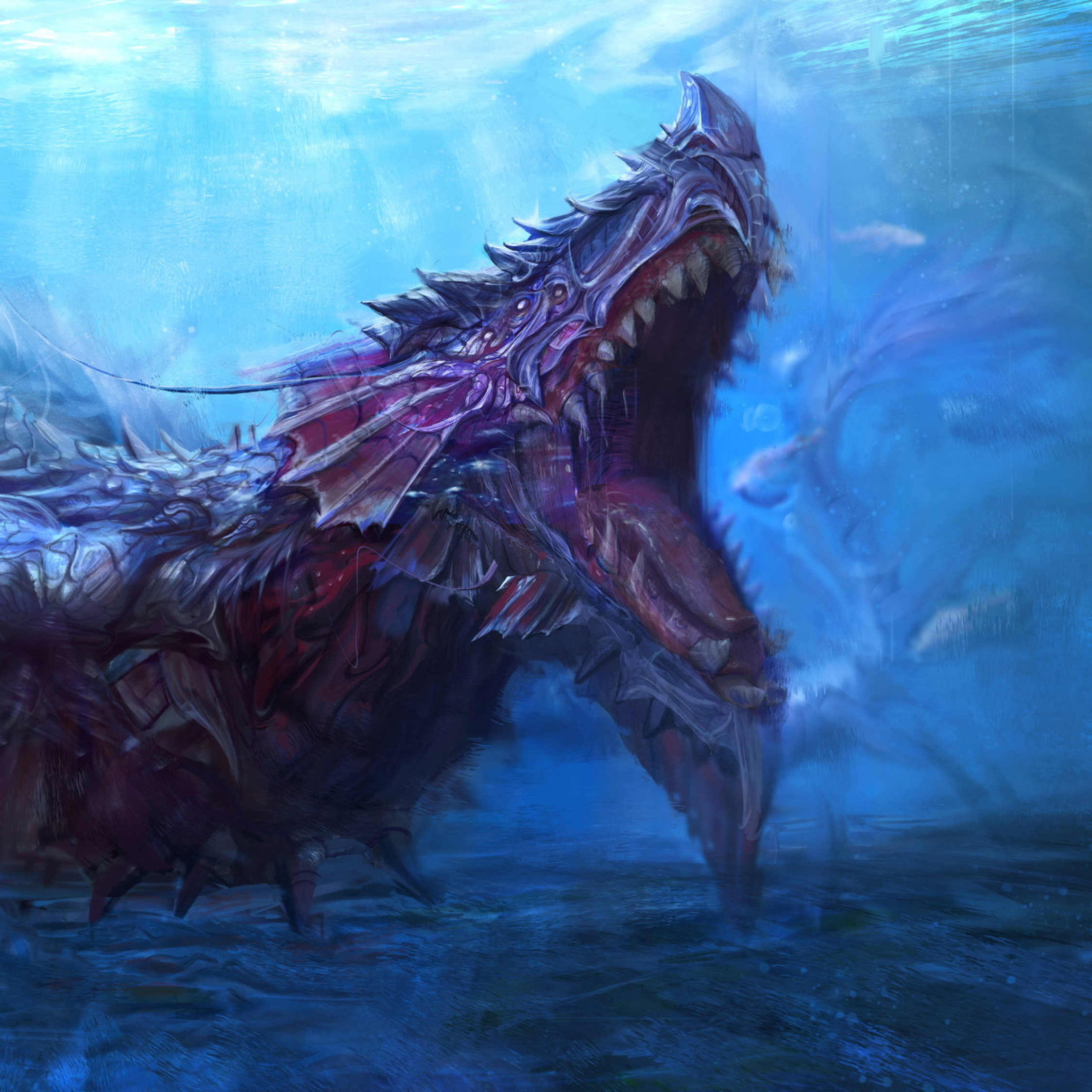 Sea Monster Underwater Creature, Full HD Wallpaper
