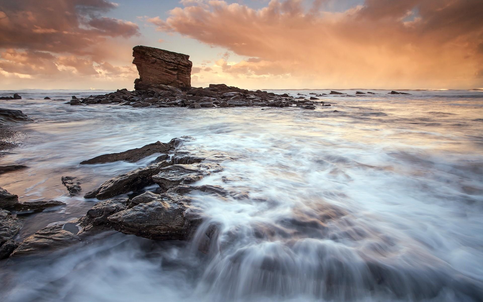 море океан камни скалы закат sea the ocean stones rock sunset  № 2530610 без смс