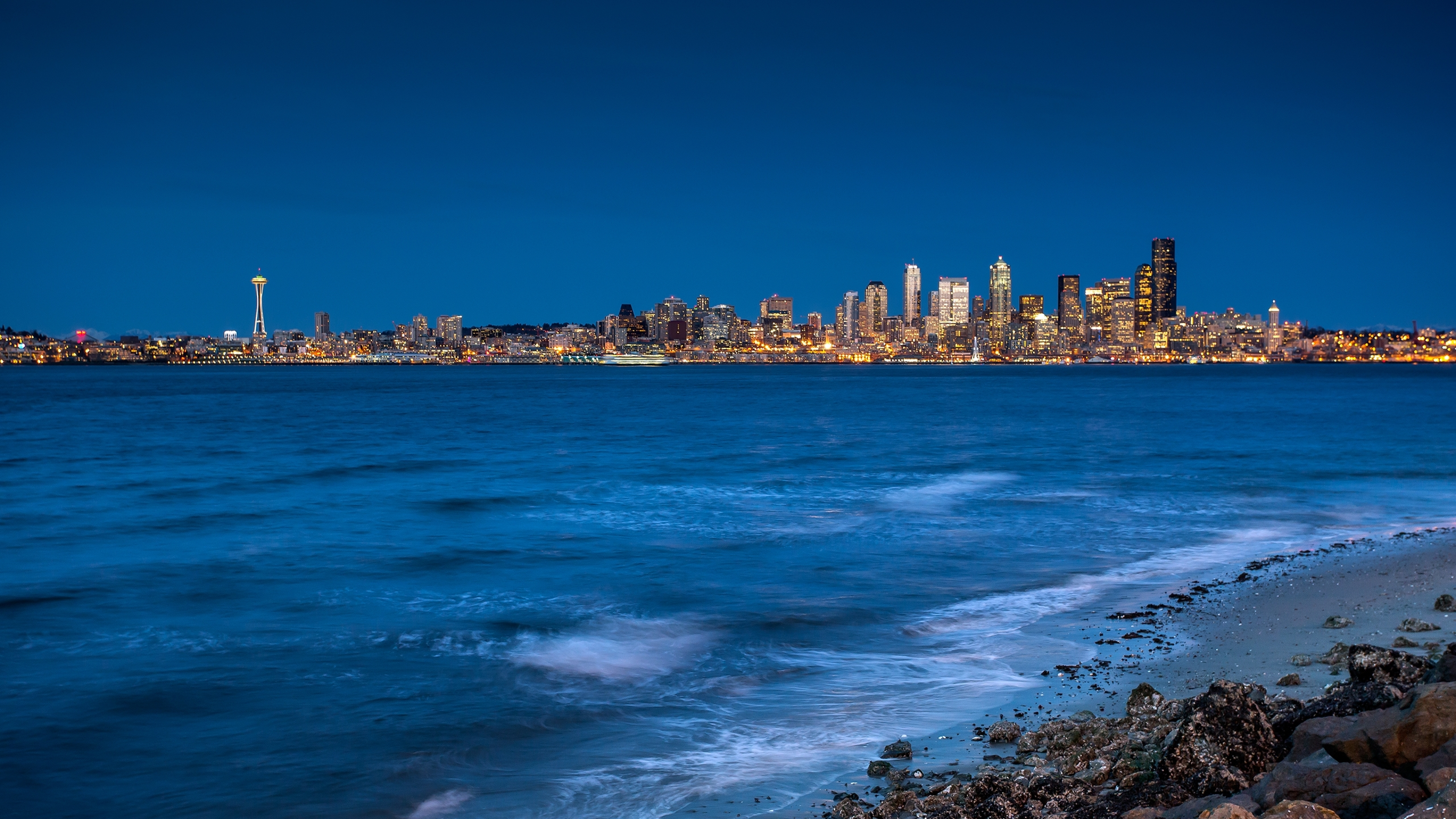 3840x2160 Seattle City Sea 4k Wallpaper Hd City 4k Wallpapers Images Photos And Background