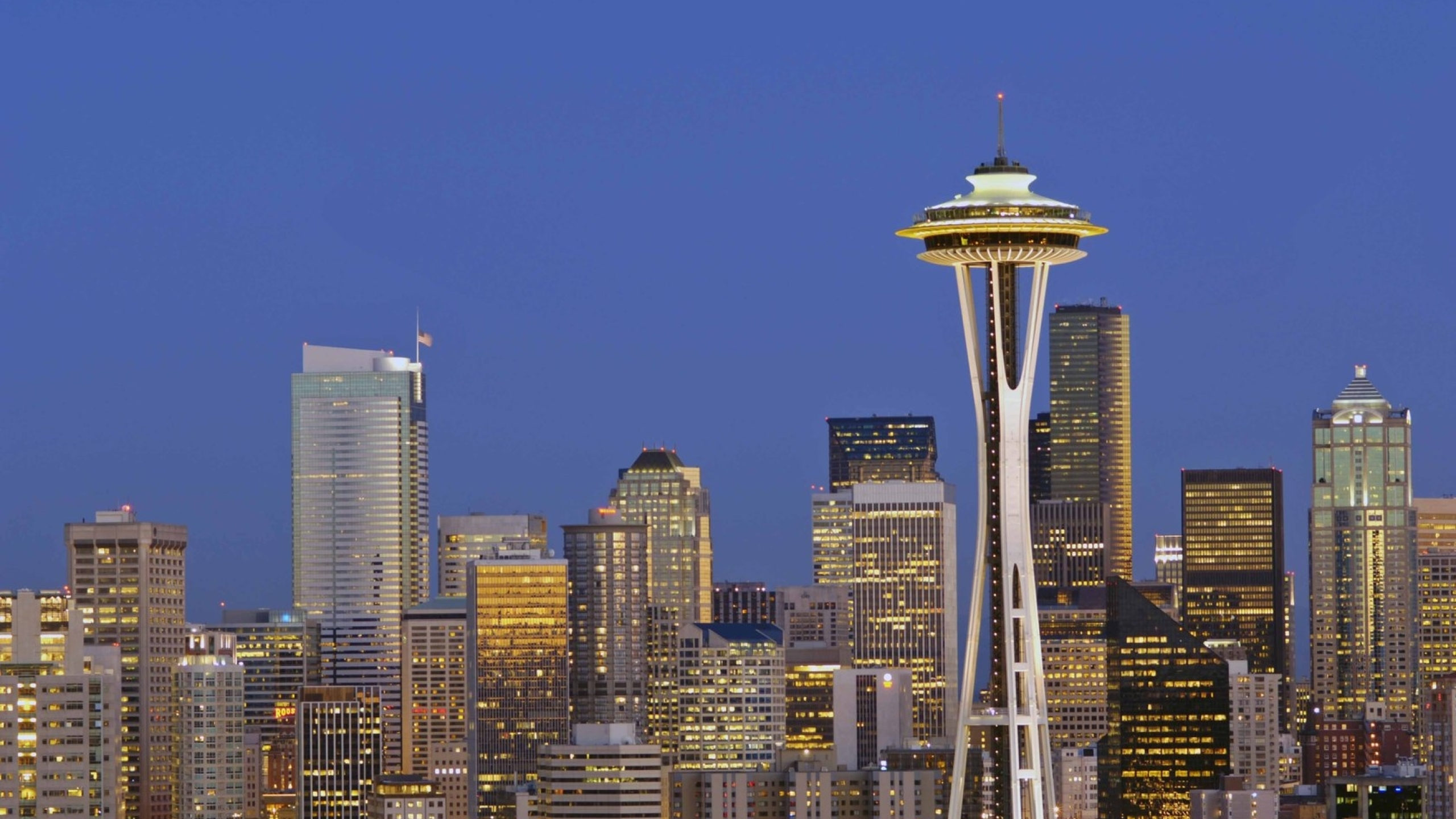 2560x1440 Seattle Twilight Washington 1440p Resolution Wallpaper Hd City 4k Wallpapers Images Photos And Background