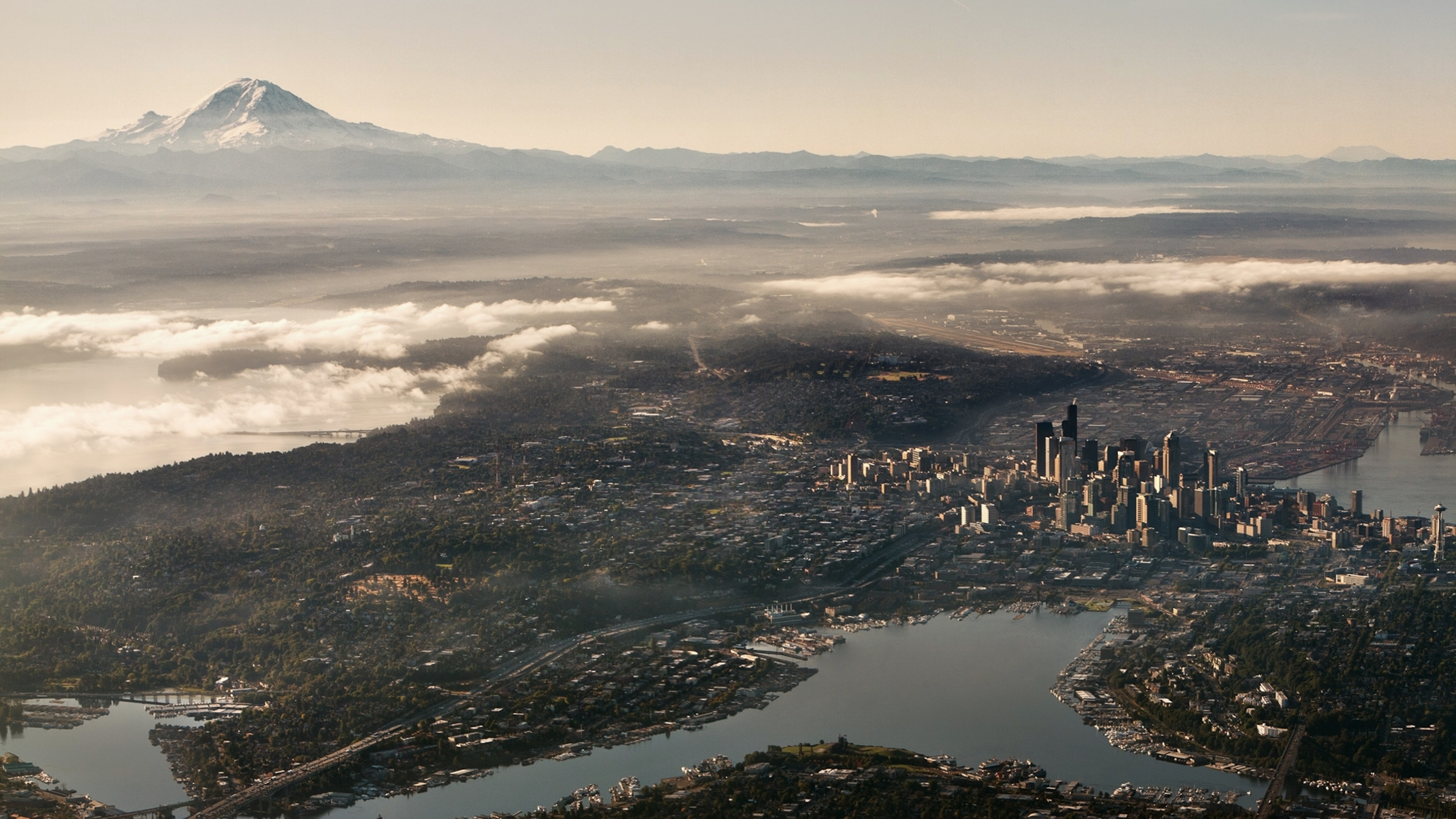 3840x2160 Seattle Usa Top View 4k Wallpaper Hd City 4k Wallpapers Images Photos And Background