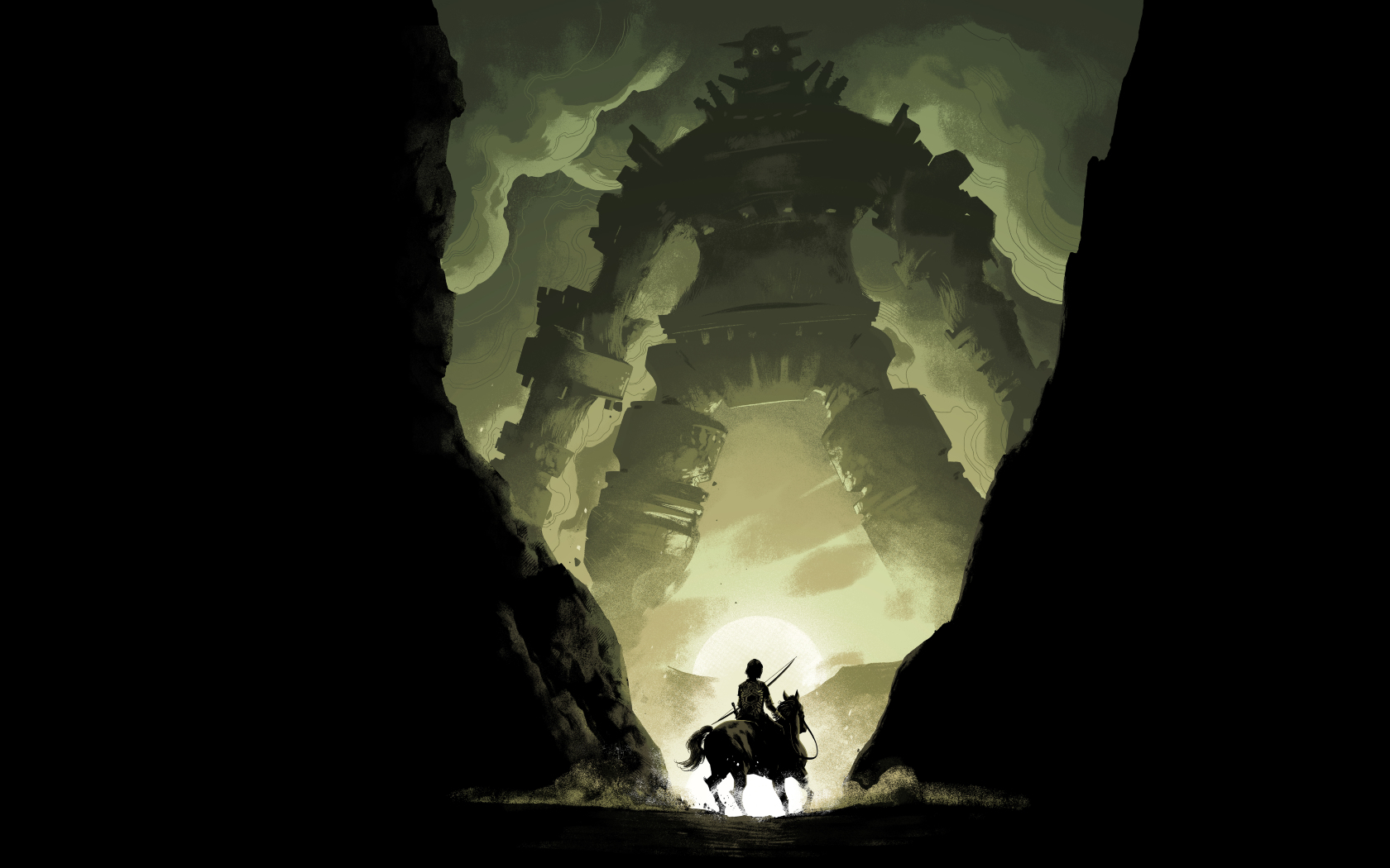 shadow of the colossus video game hd 8k wallpaper