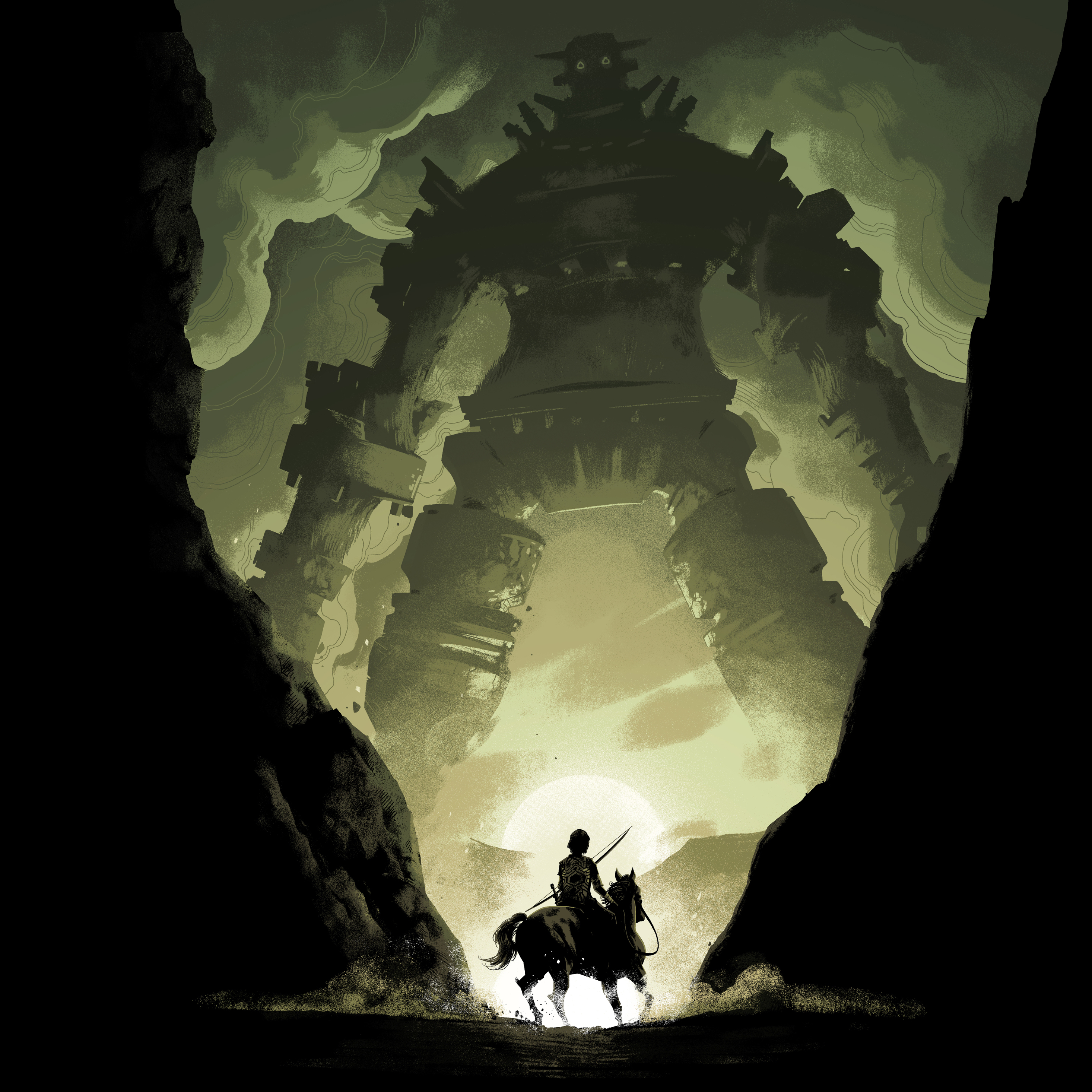 2932x2932 Shadow Of The Colossus Video Game Ipad Pro Retina