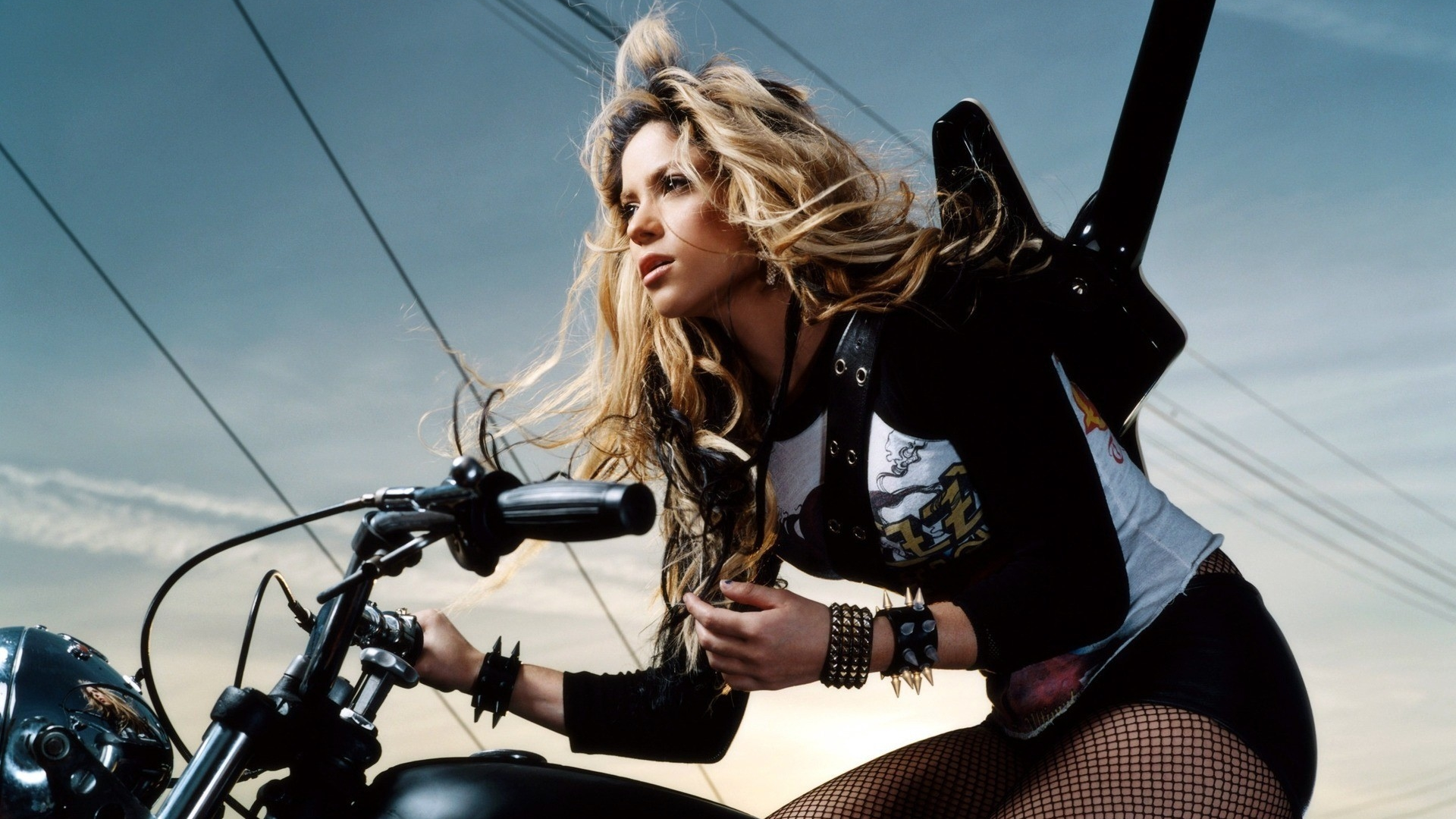 1920x1080 Shakira On Bike Wallpaper 1080p Laptop Full Hd