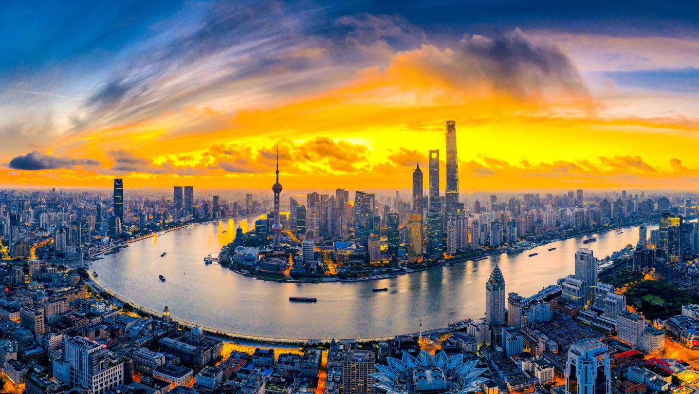 1360x768 Shanghai Cityscape Desktop Laptop HD Wallpaper ...