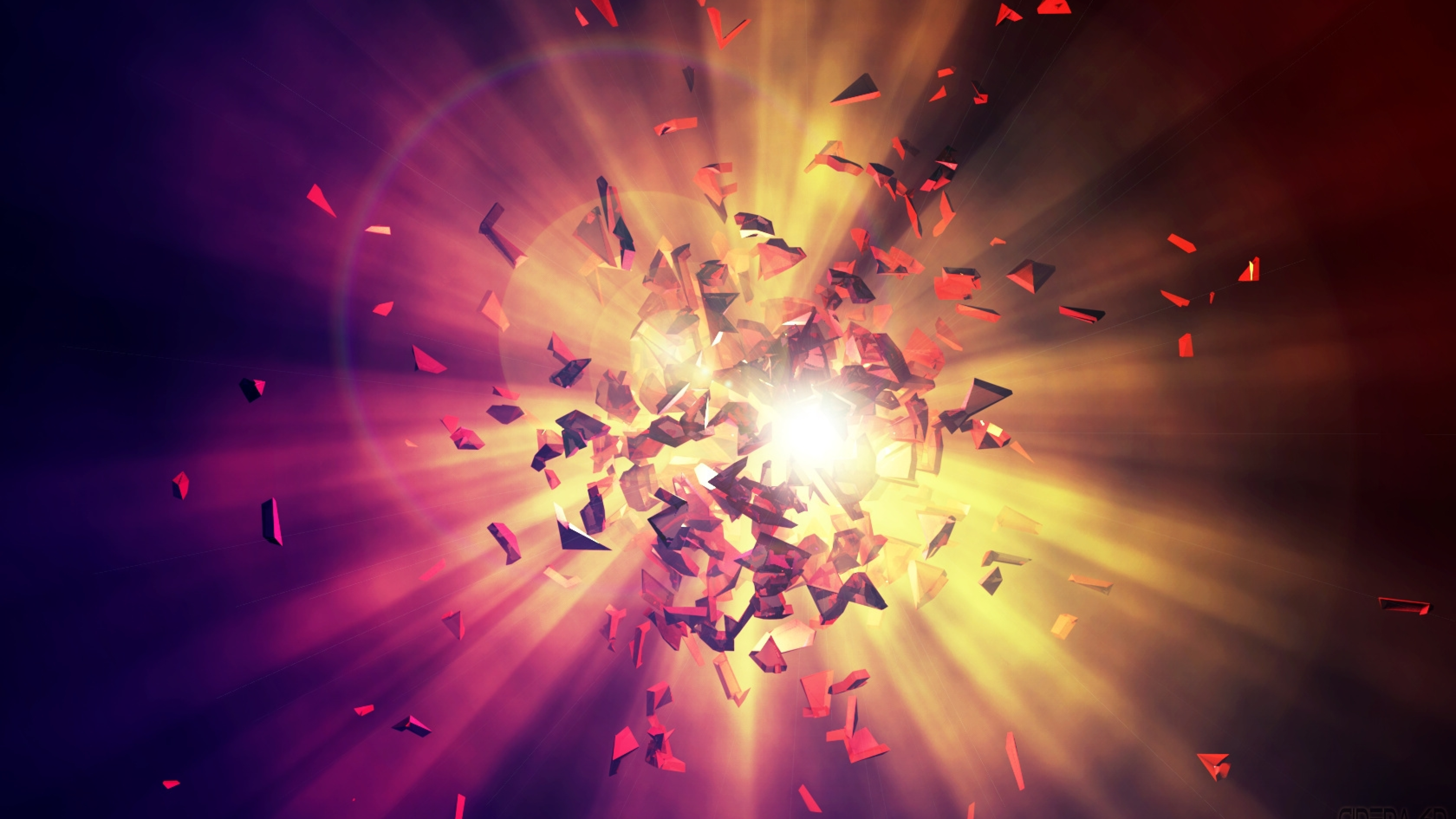 Download shards explosion energy 1440x2560 resolution - Explosion wallpaper ...