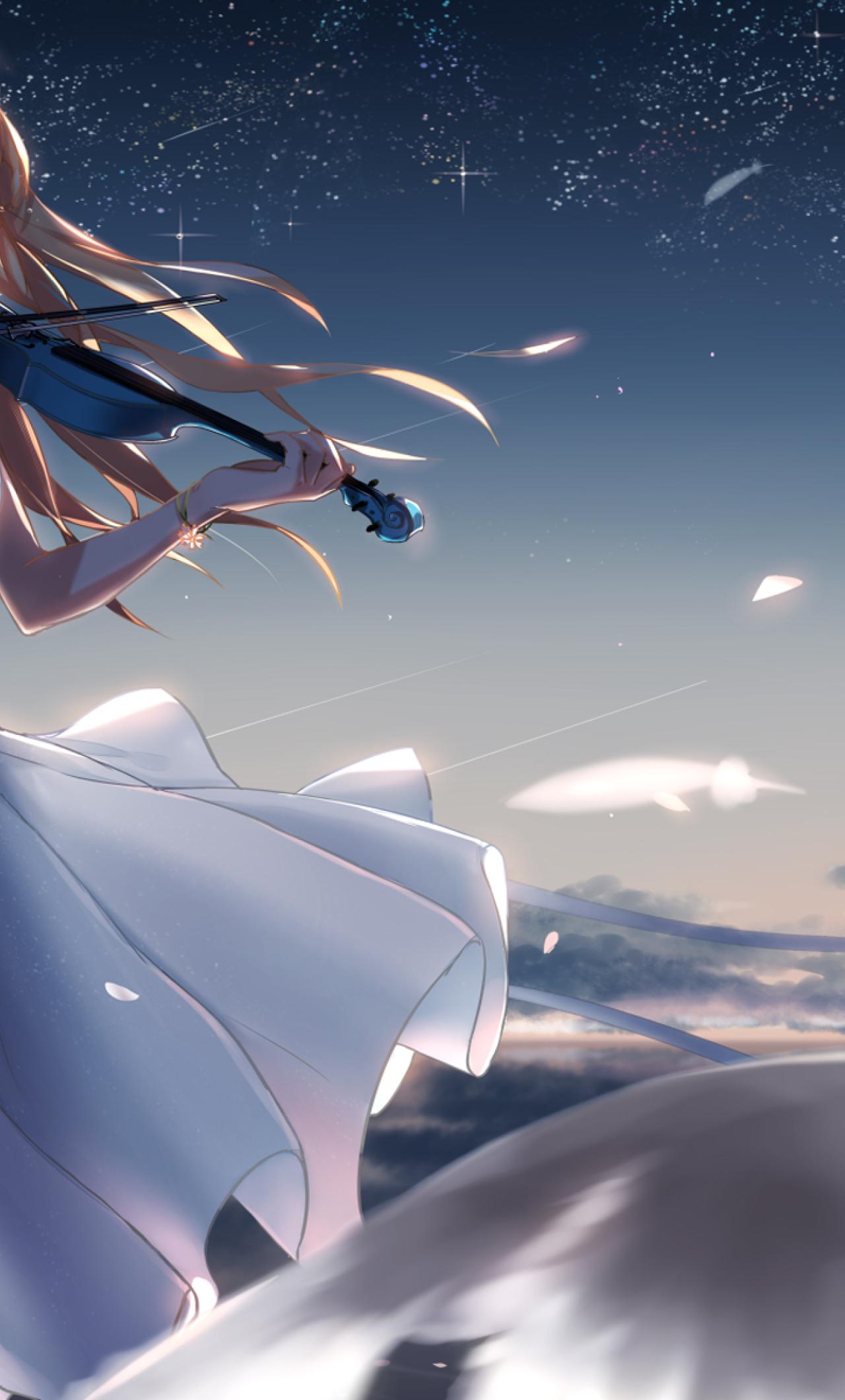 1280x2120 Shigatsu Wa Kimi No Uso Kaori Miyazono Violin