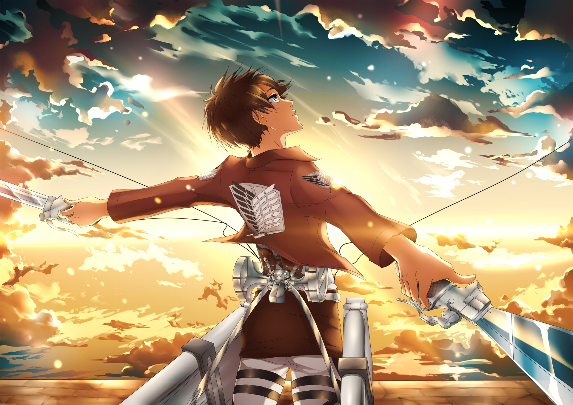 shingeki no kyojin, eren jaeger, man Wallpaper, HD Anime ...