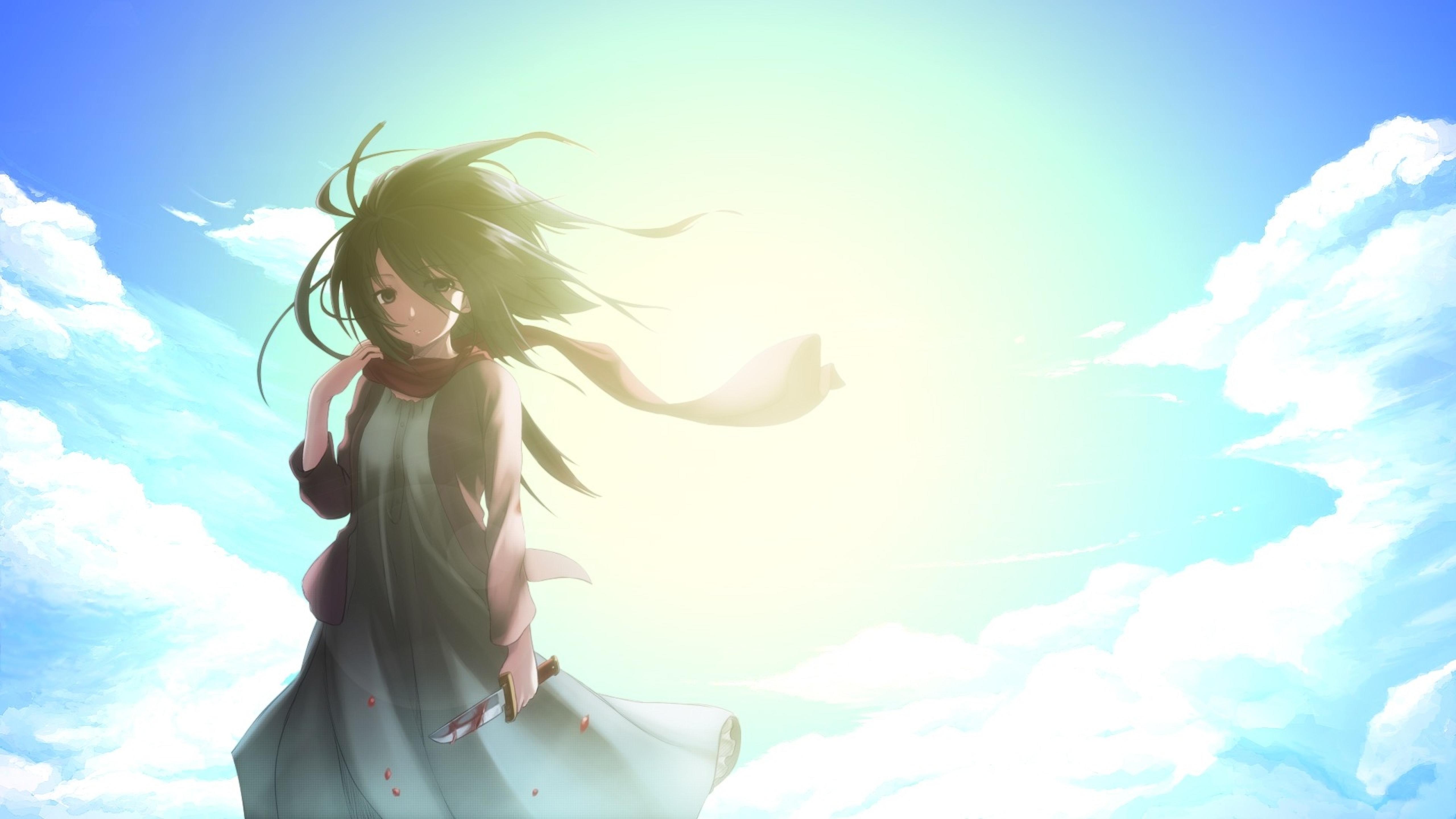 5120x2880 Shingeki No Kyojin Mikasa Ackerman Anime 5k