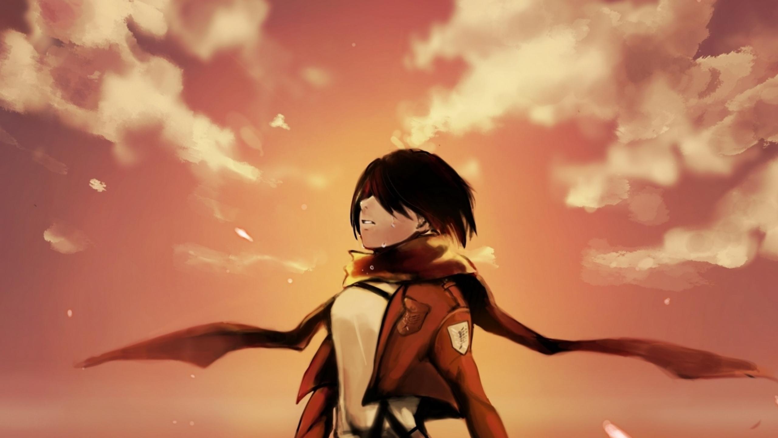 2560x1440 Shingeki No Kyojin Mikasa Ackerman Art 1440p