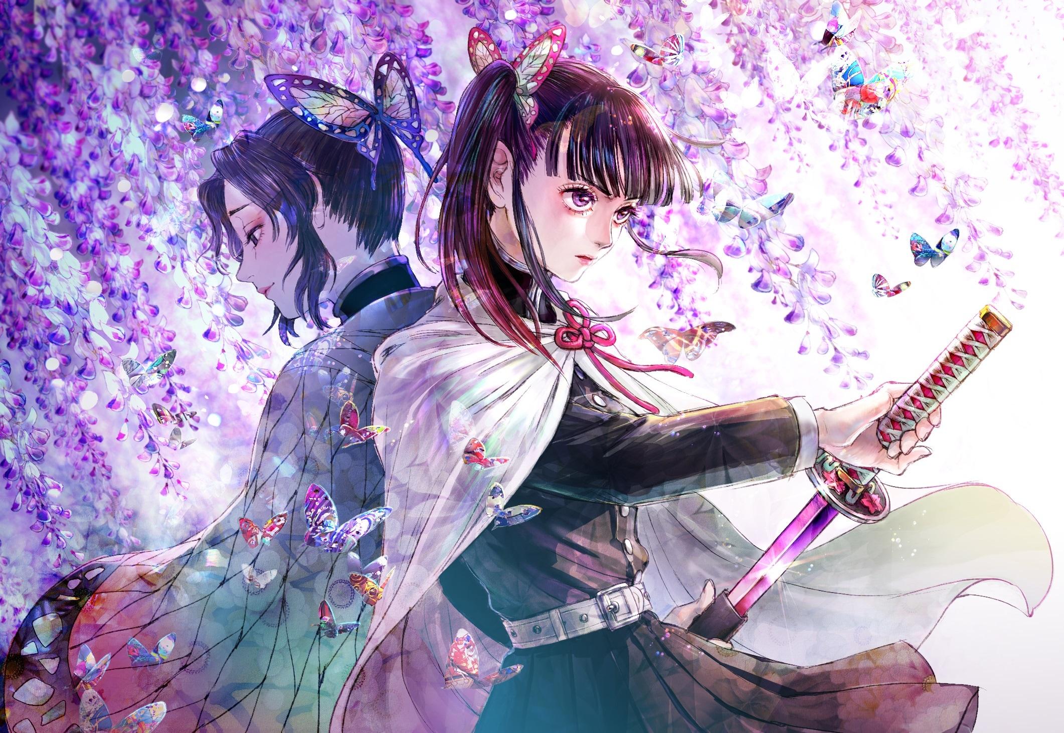 720x1544 Shinobu Kochou And Kanao Tsuyuri 720x1544 Resolution Wallpaper Hd Anime 4k Wallpapers Images Photos And Background