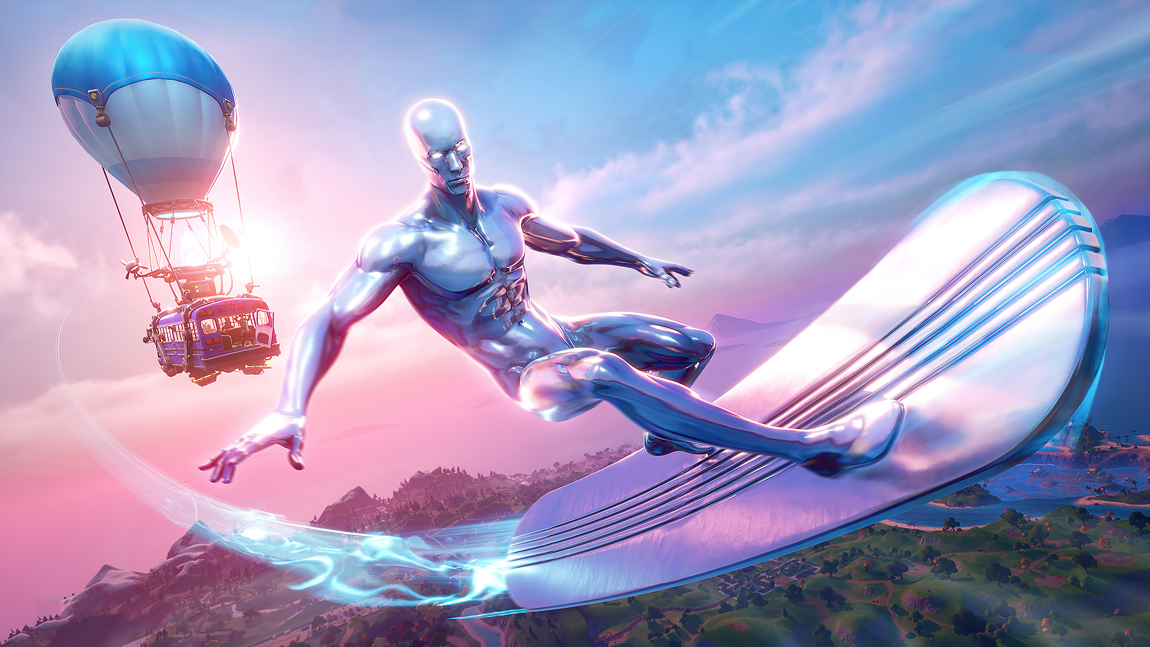 2560x1080 Silver Surfer Fortnite Season 4 2560x1080 Resolution Wallpaper Hd Games 4k Wallpapers Images Photos And Background