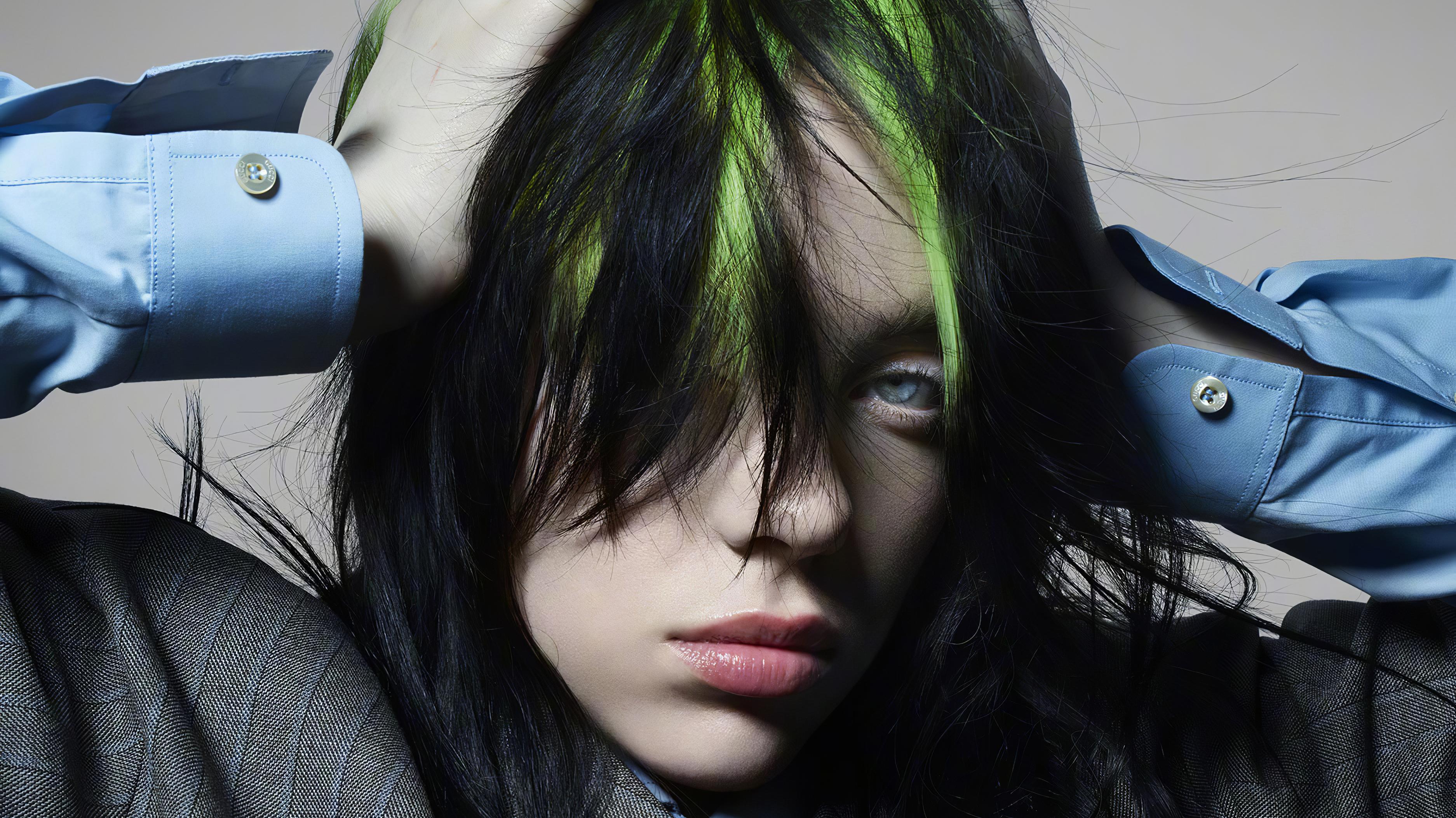 Singer Billie Eilish Face Wallpaper, HD Celebrities 4K ...